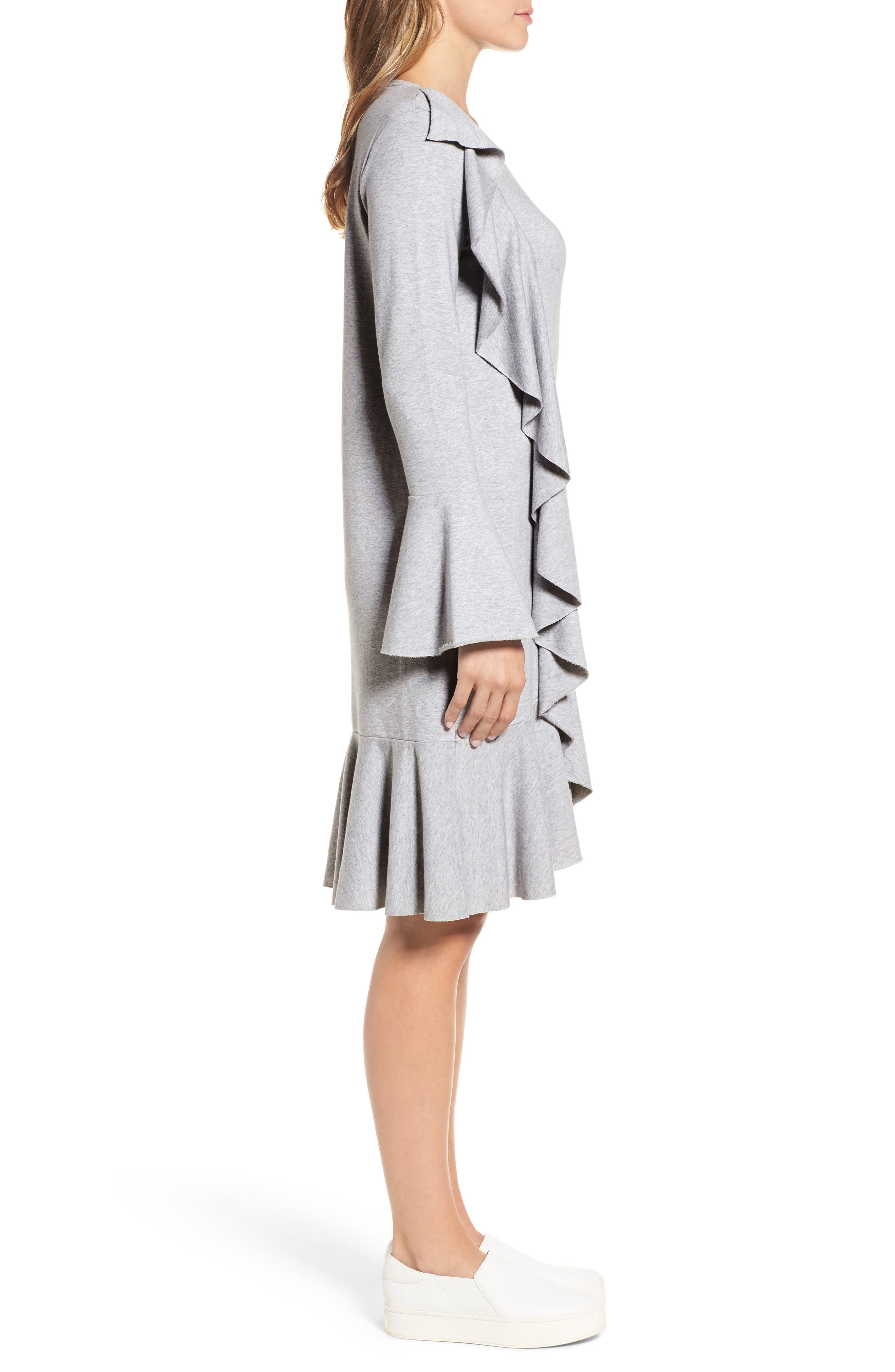 Ruffle Detail Knit Dress,                             Alternate thumbnail 8, color,