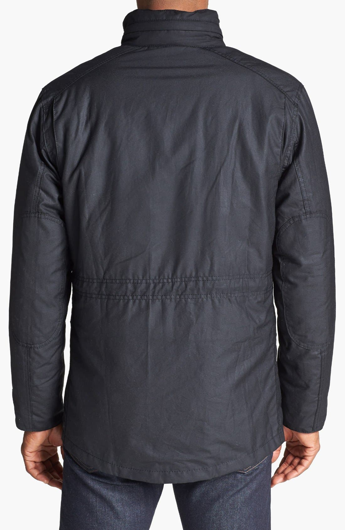 'Sapper' Weatherproof Waxed Relaxed Fit Jacket,                             Alternate thumbnail 4, color,                             001