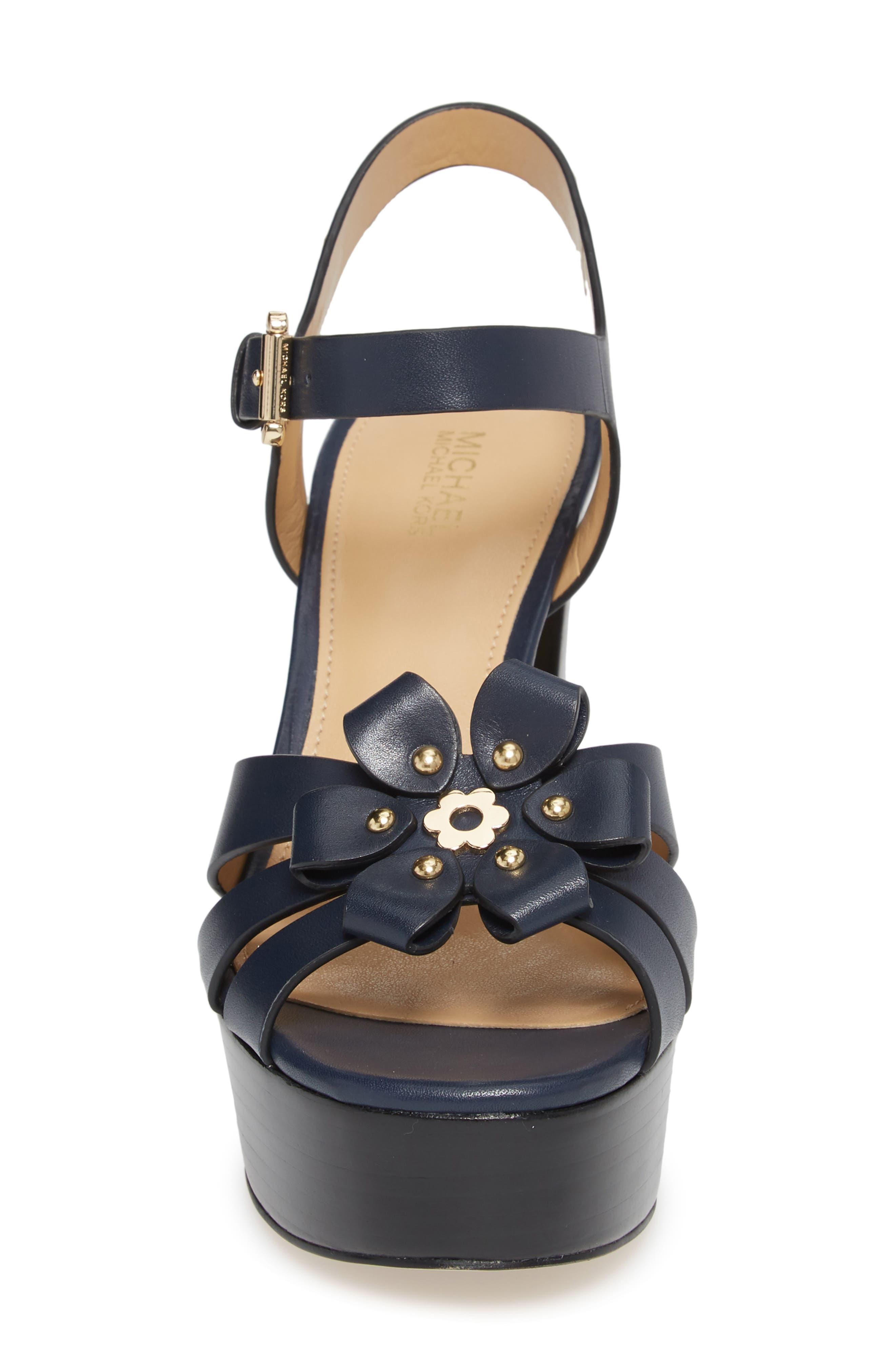 Tara Platform Sandal,                             Alternate thumbnail 4, color,