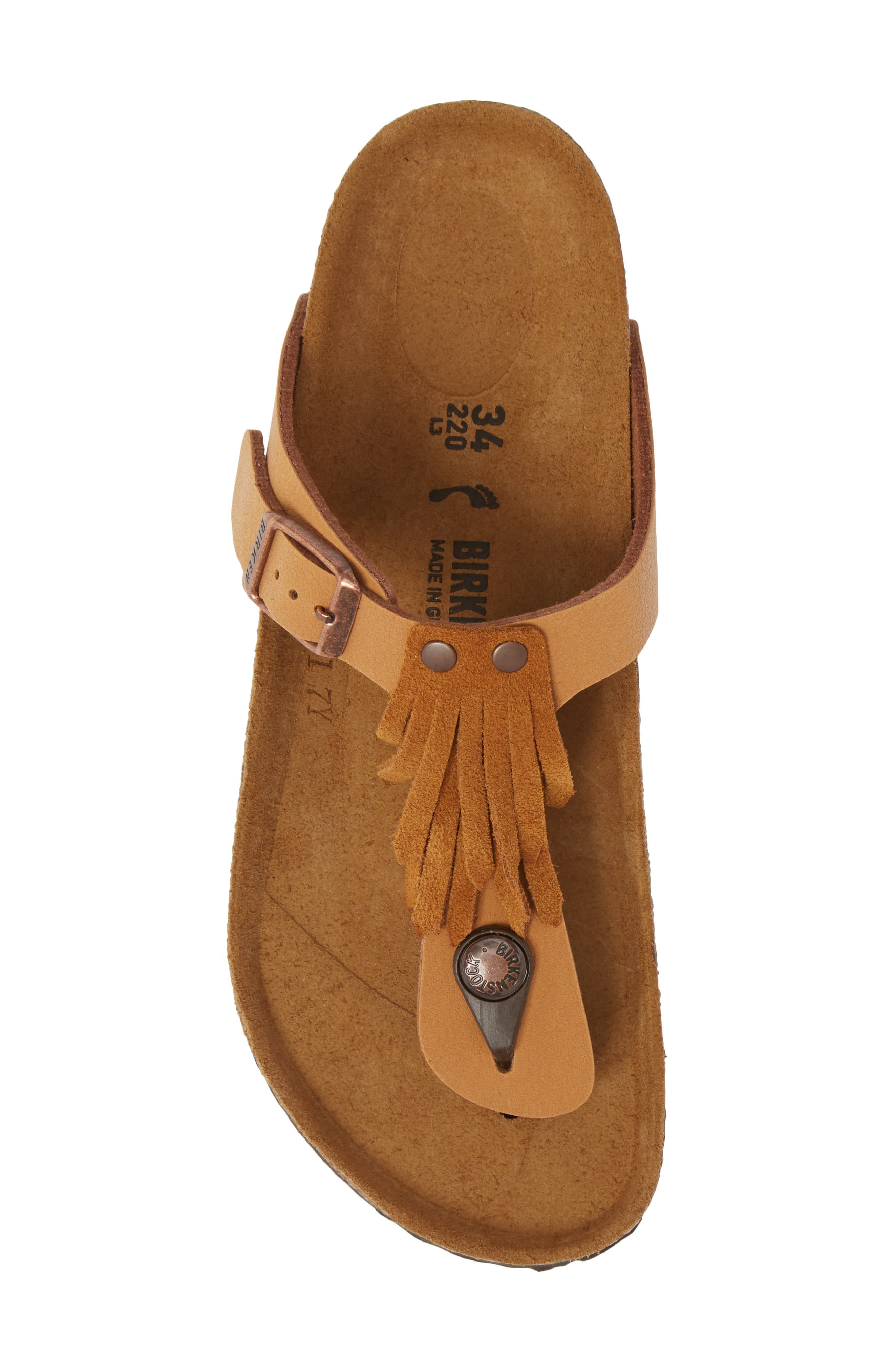 Gizeh Fringe Sandal,                             Alternate thumbnail 5, color,                             200