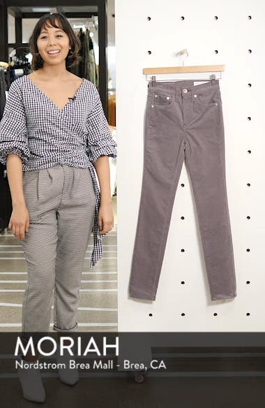 rag & bone High Waist Ankle Skinny Corduroy Pants, sales video thumbnail