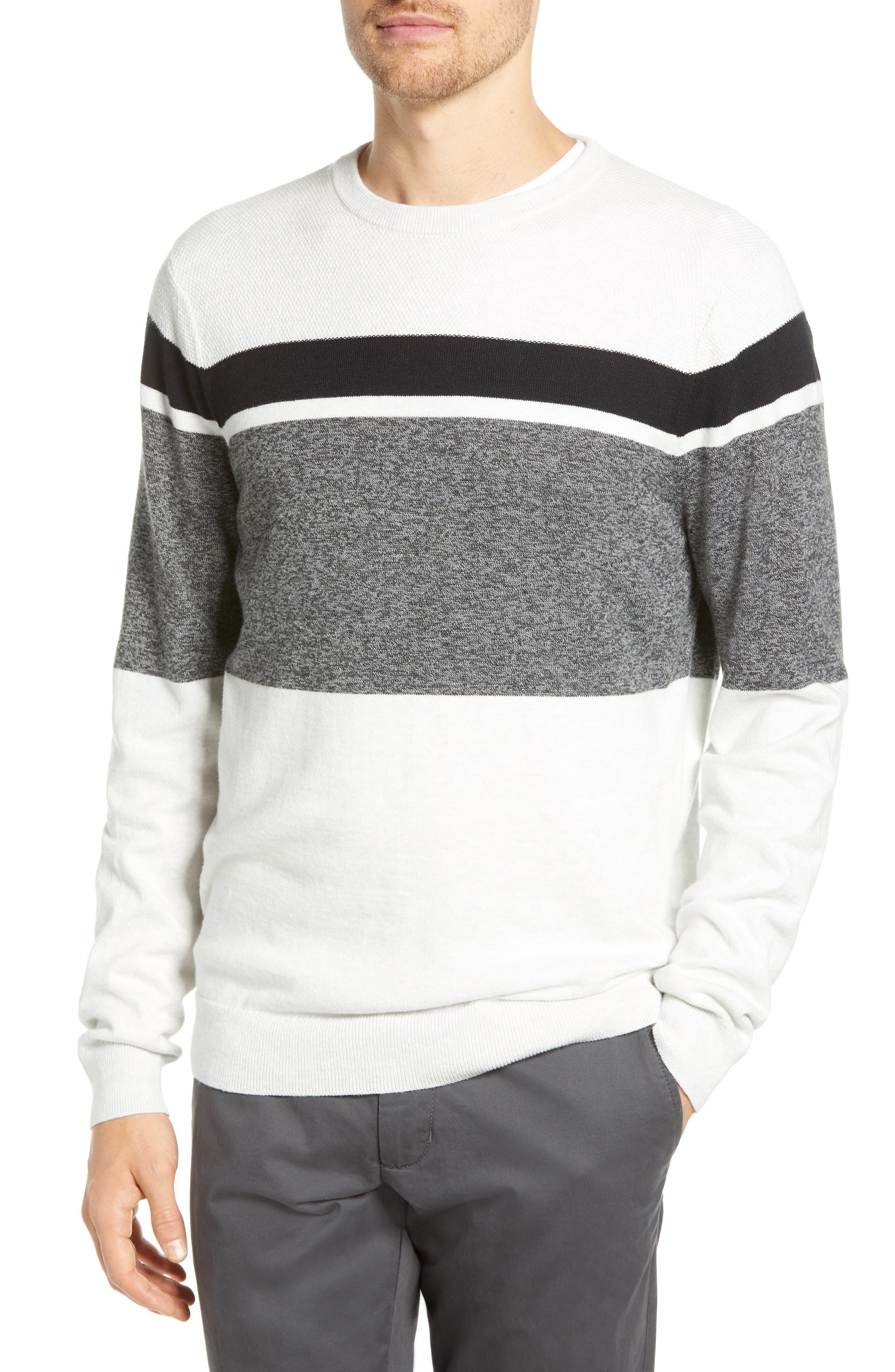 1901 Alpine Stripe Sweater, Grey