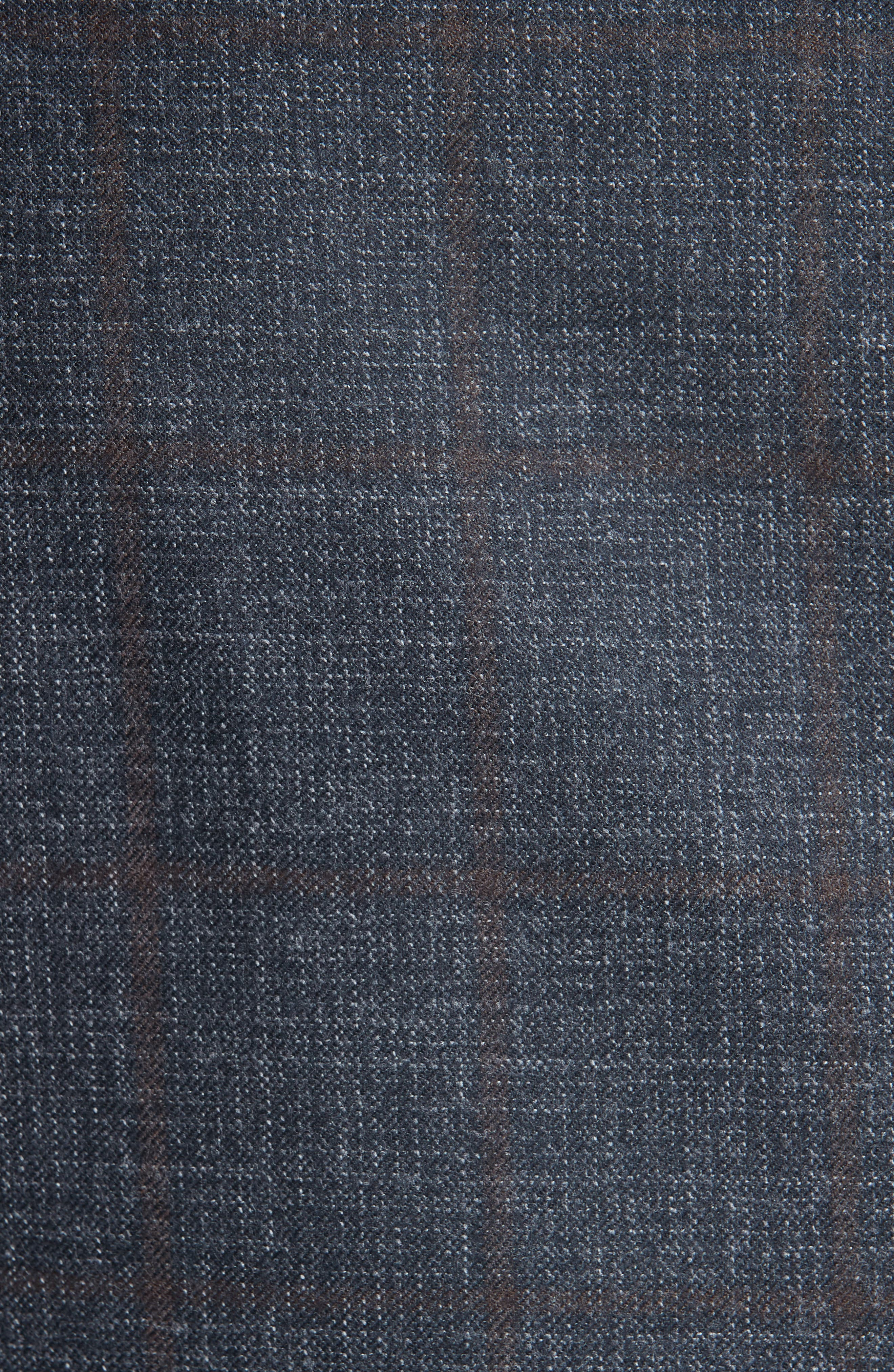 Classic Fit Plaid Wool Sport Coat,                             Alternate thumbnail 6, color,                             CHARCOAL