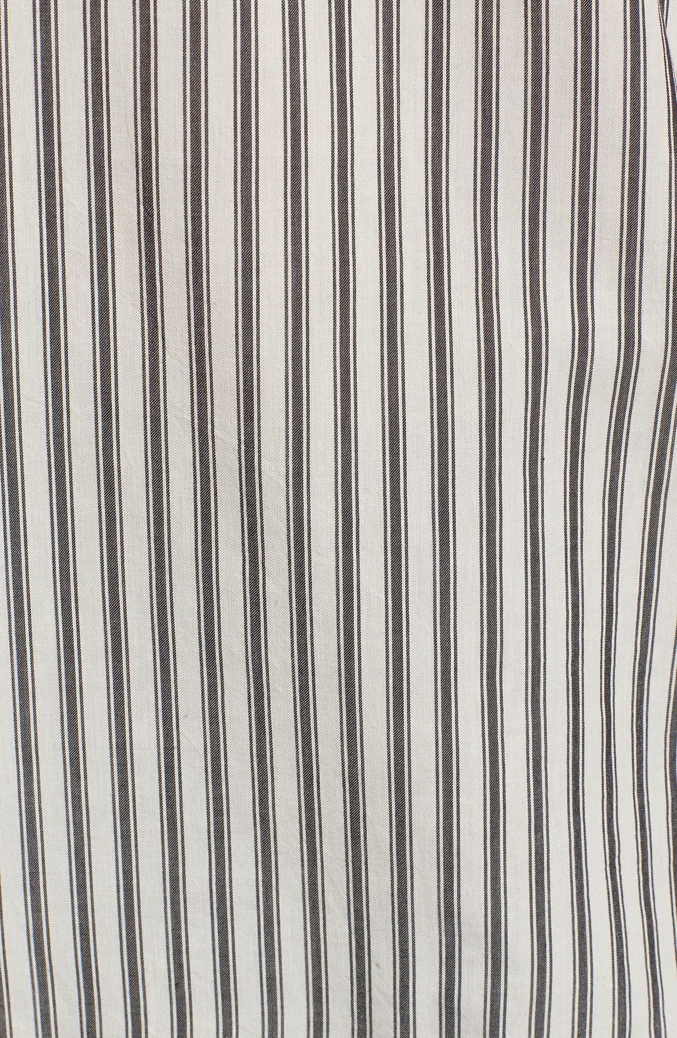 Stripe Flare Sleeve Shirt,                             Alternate thumbnail 5, color,                             190