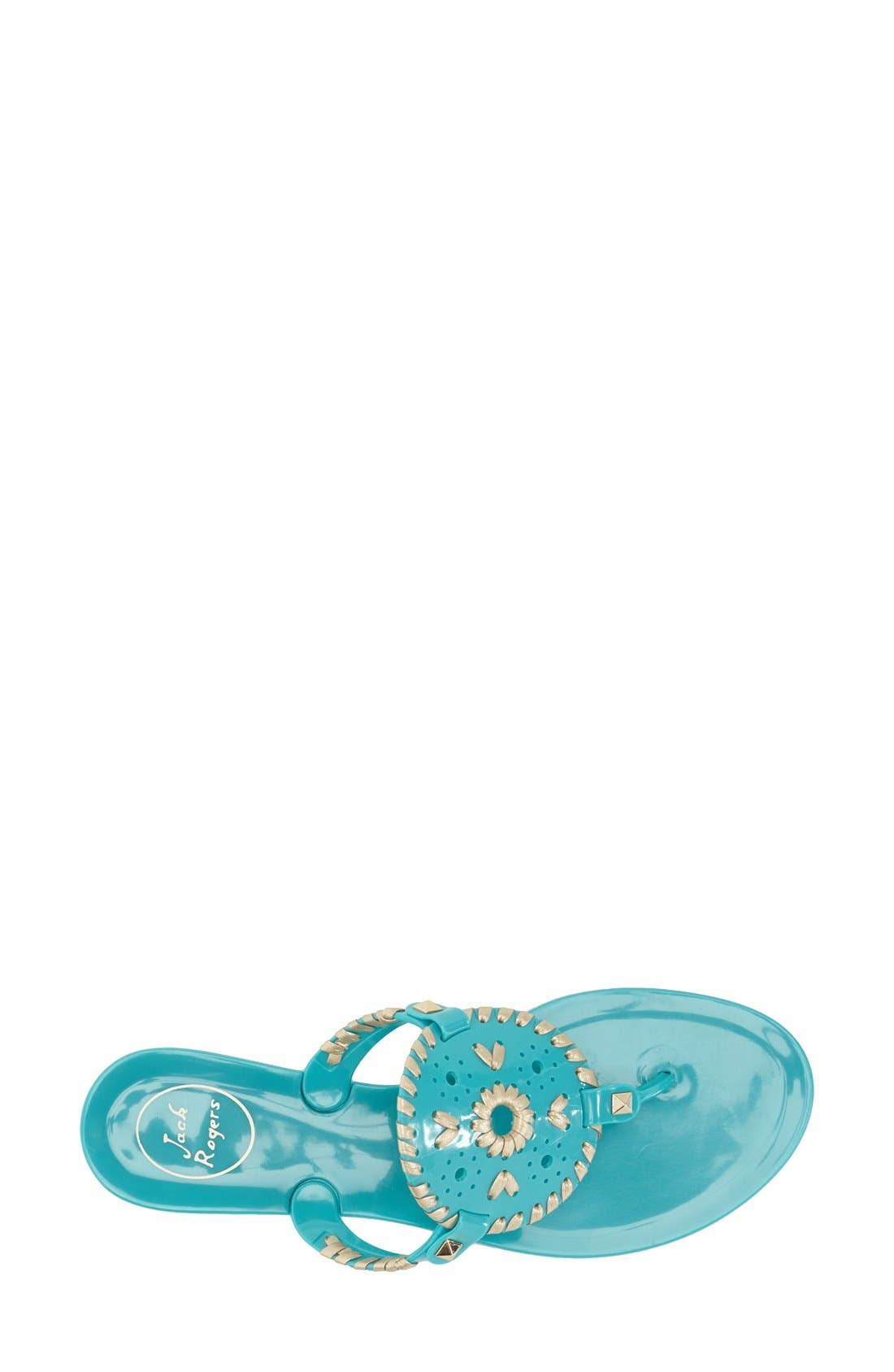'Georgica' Jelly Flip Flop,                             Alternate thumbnail 110, color,
