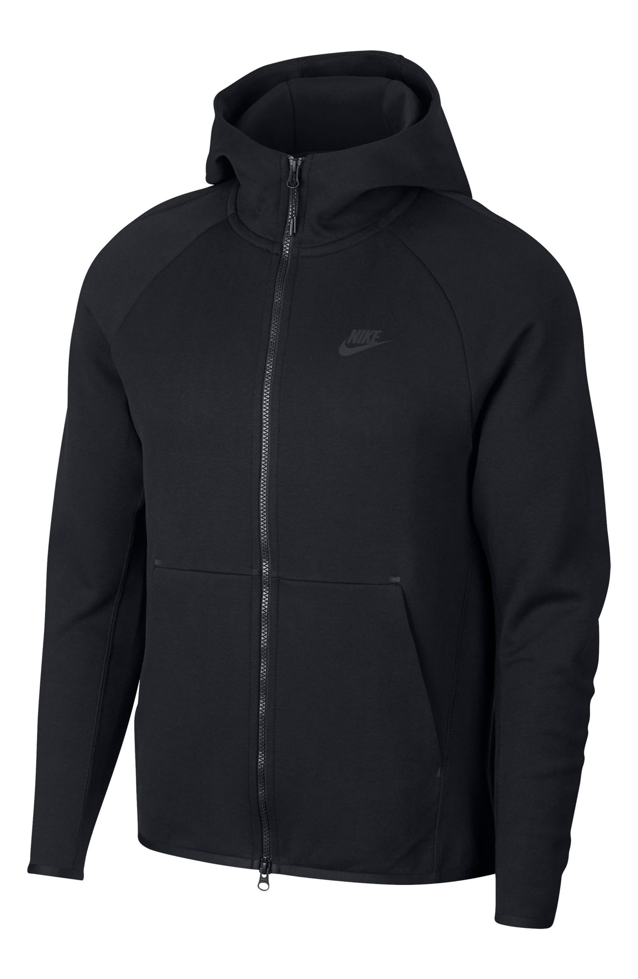 Sportswear Tech Fleece Zip Hoodie,                             Alternate thumbnail 4, color,                             BLACK/ BLACK
