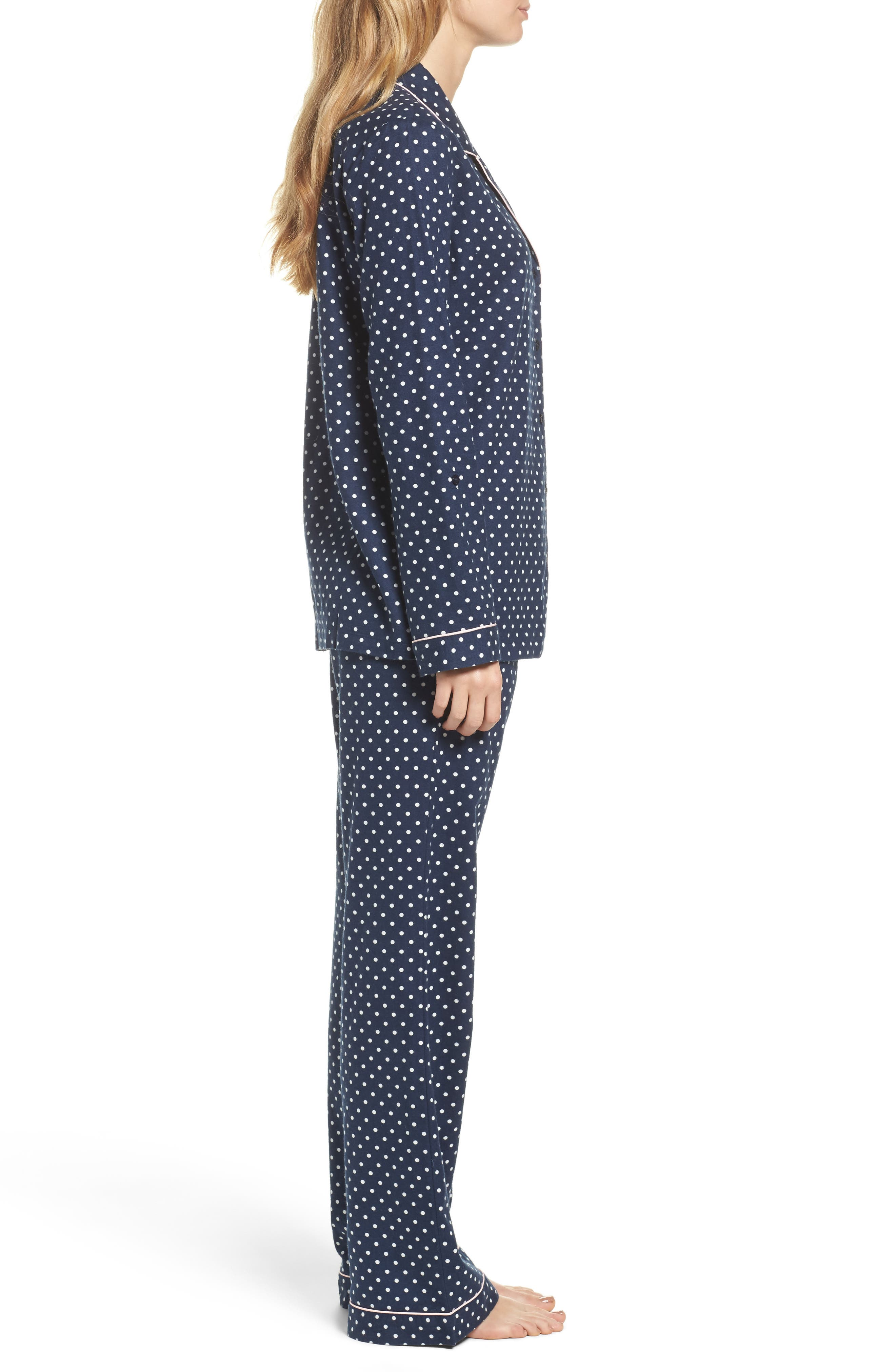 Cotton Twill Pajamas,                             Alternate thumbnail 3, color,                             414