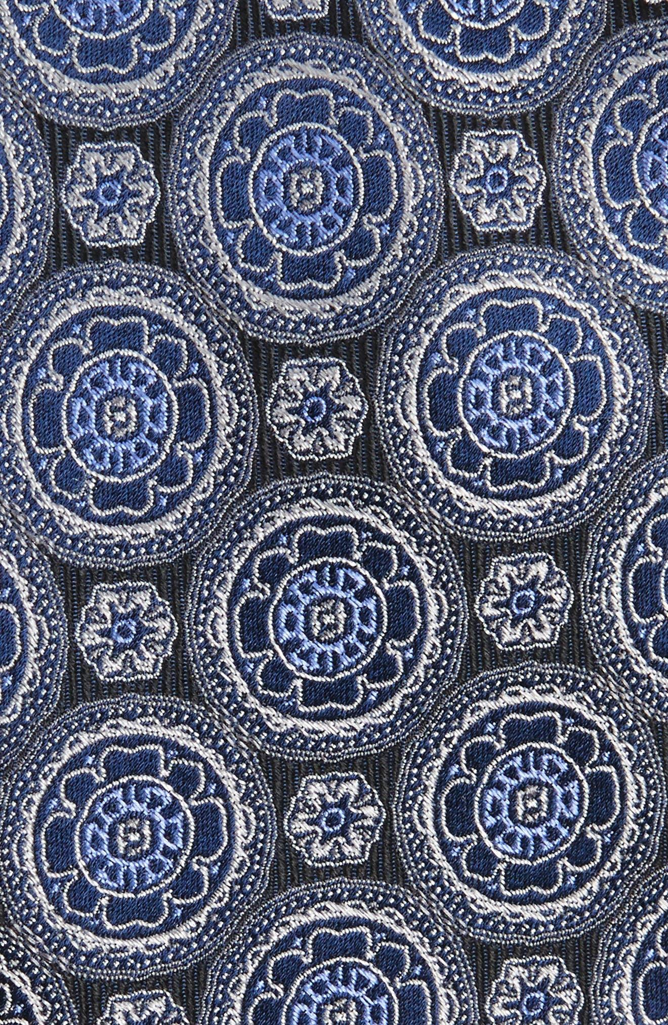 Kensington Medallion Silk Tie,                             Alternate thumbnail 2, color,                             001