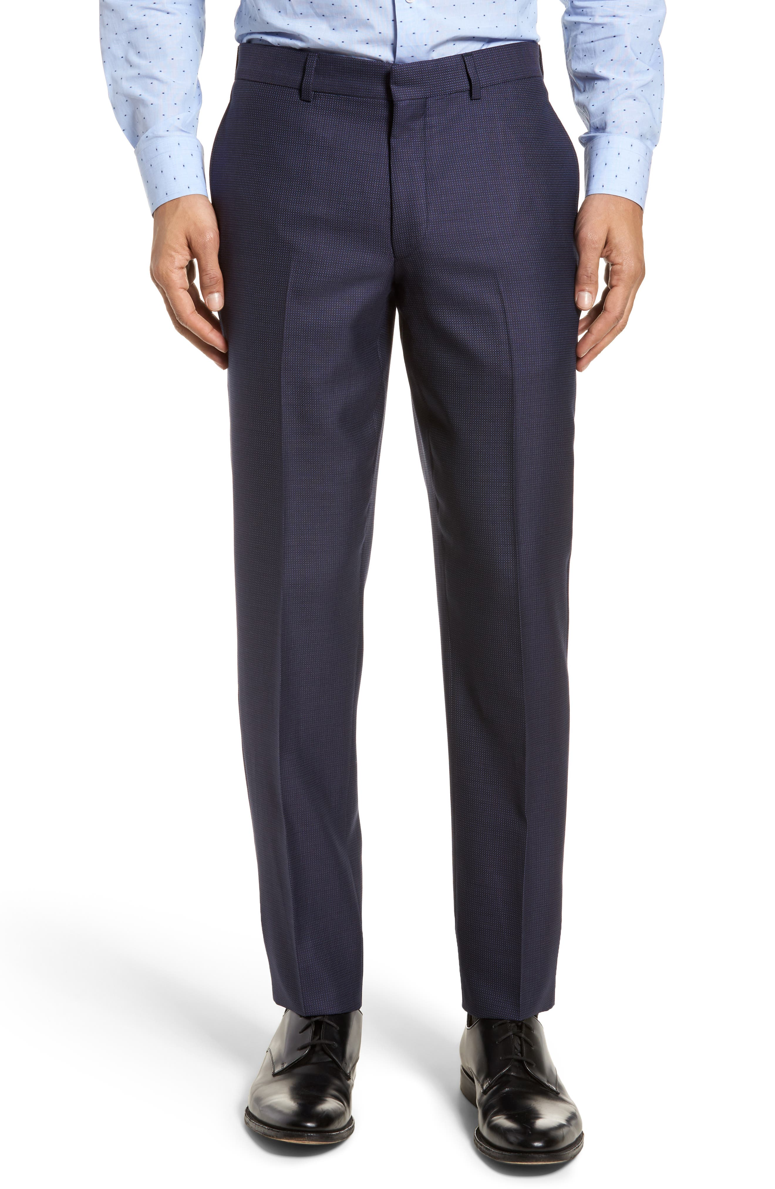 Roger Extra Slim Fit Solid Wool Suit,                             Alternate thumbnail 6, color,                             410