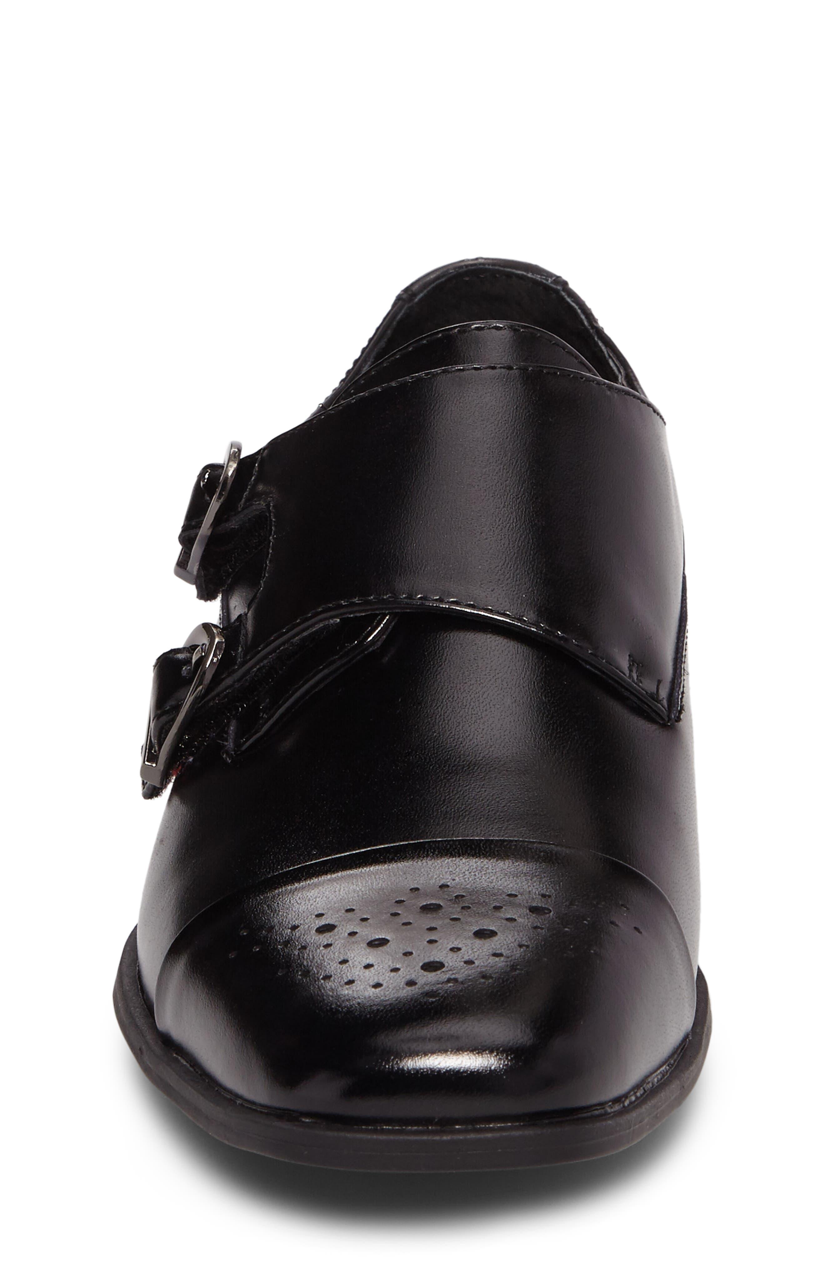 Trevor Cap Toe Monk Shoe,                             Alternate thumbnail 4, color,                             001