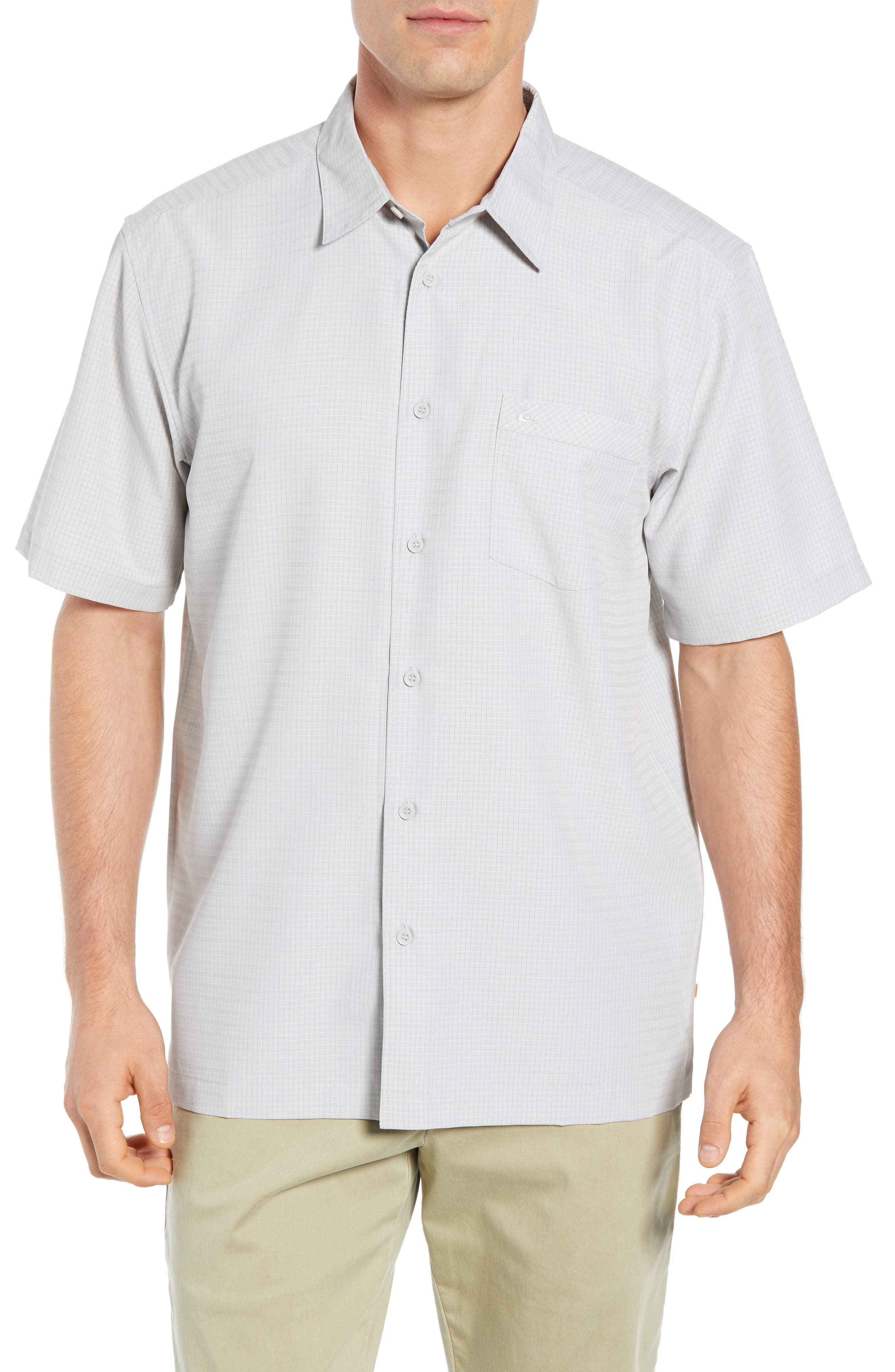 Centinela Regular Fit Camp Shirt,                             Main thumbnail 1, color,                             DRIZZLE