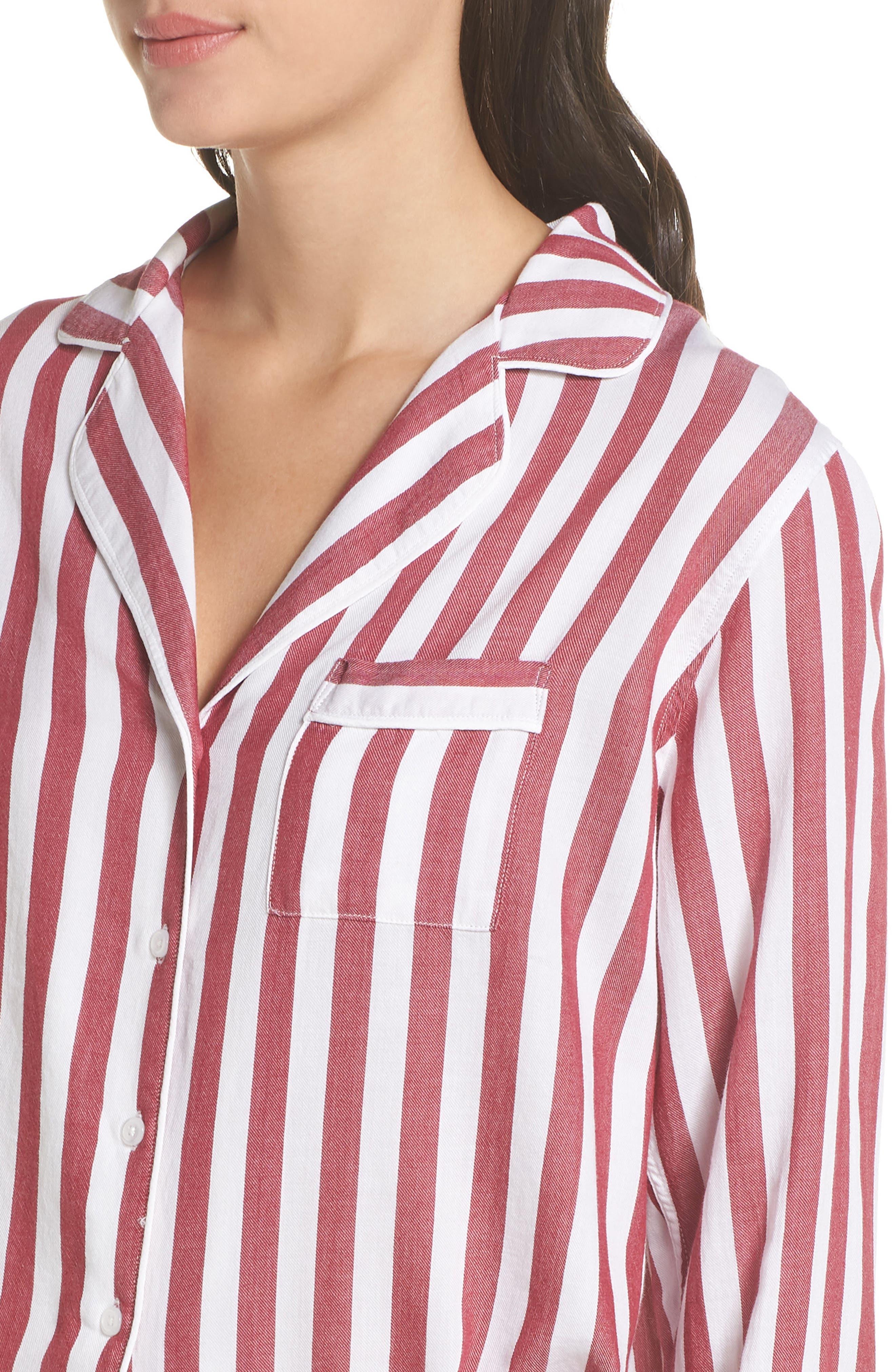 Stripe Short Pajamas,                             Alternate thumbnail 5, color,                             TOLEDO STRIPE