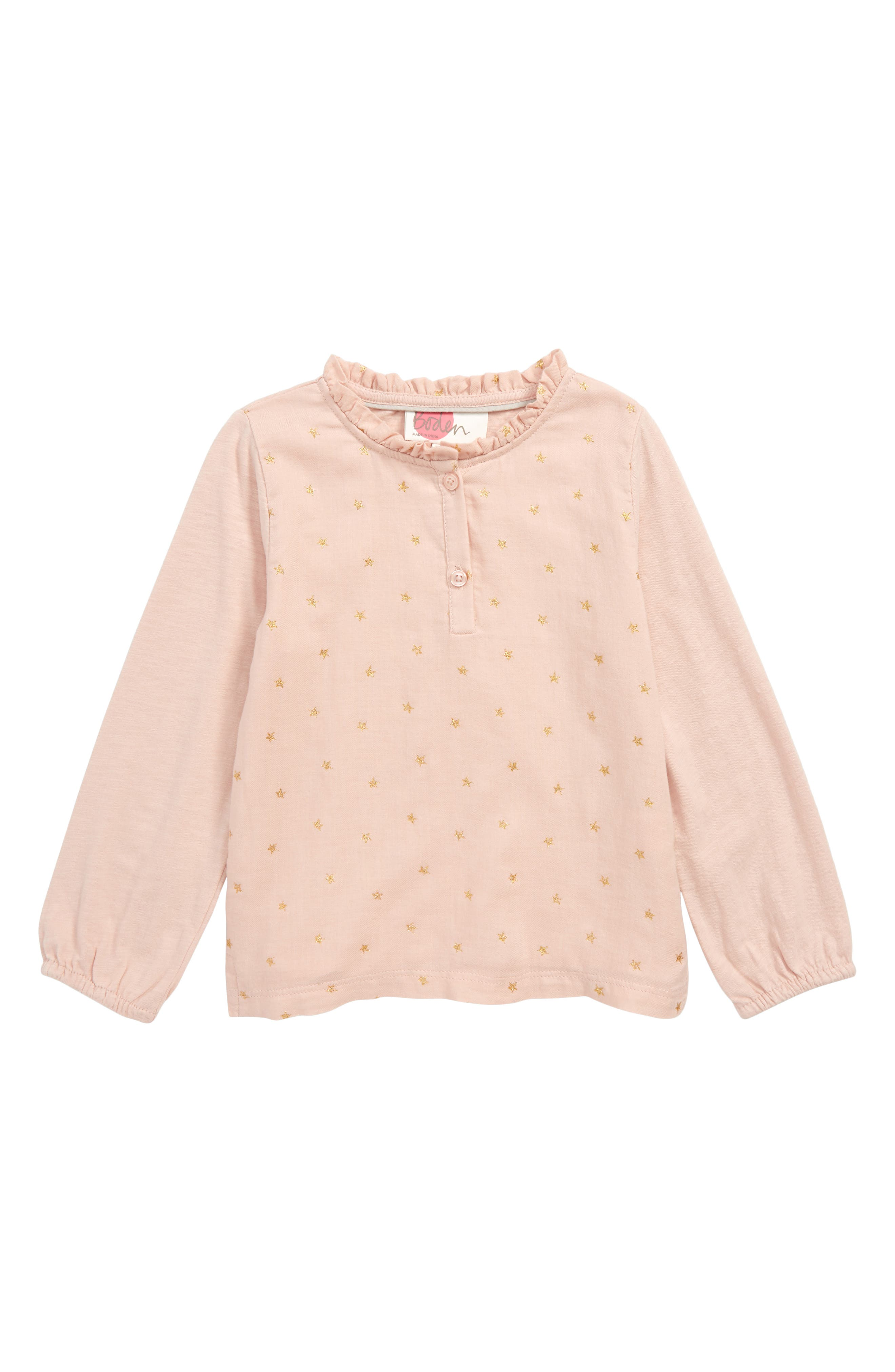 Ruffle Top,                         Main,                         color, PINK PROVENCE DUSTY PINK