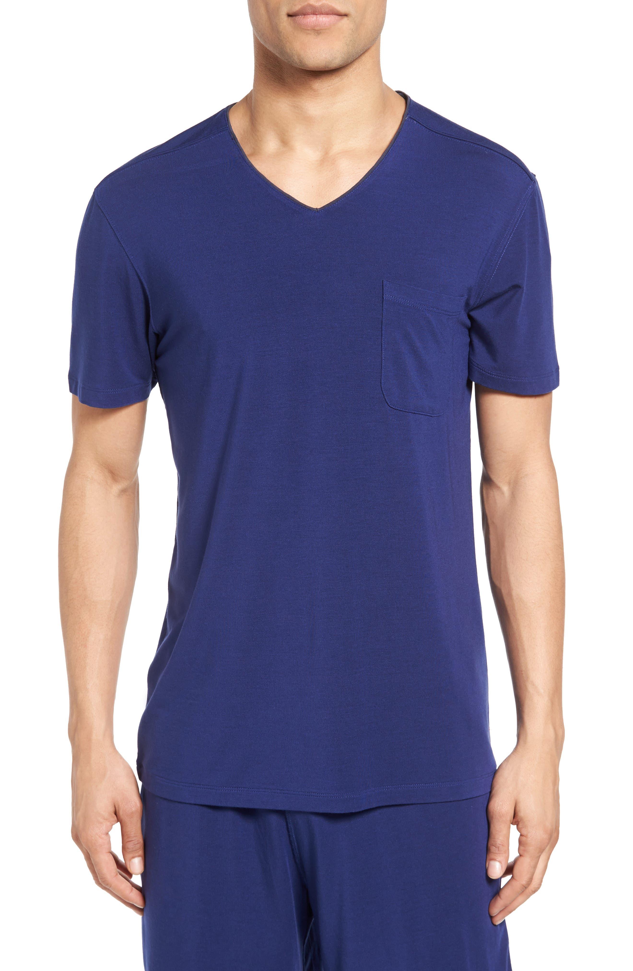 V-Neck Stretch Modal T-Shirt,                         Main,                         color, 413