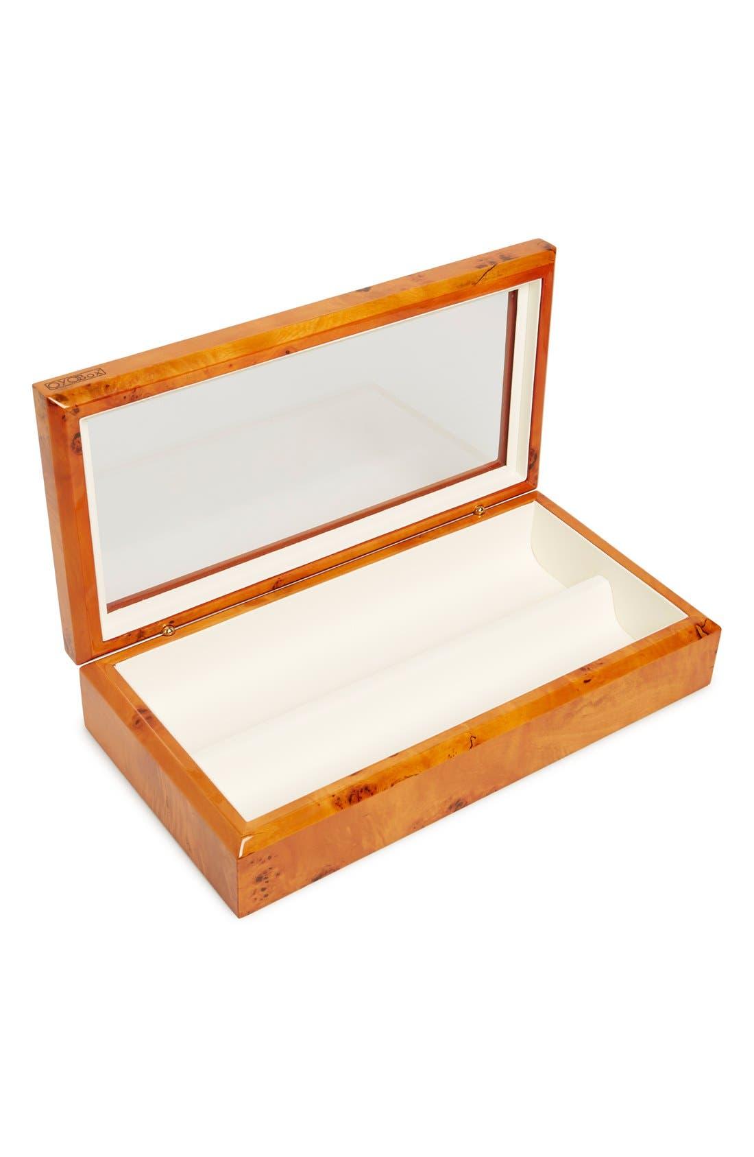 Lacquered Wood Window Top Eyewear Organizer Case,                             Alternate thumbnail 12, color,