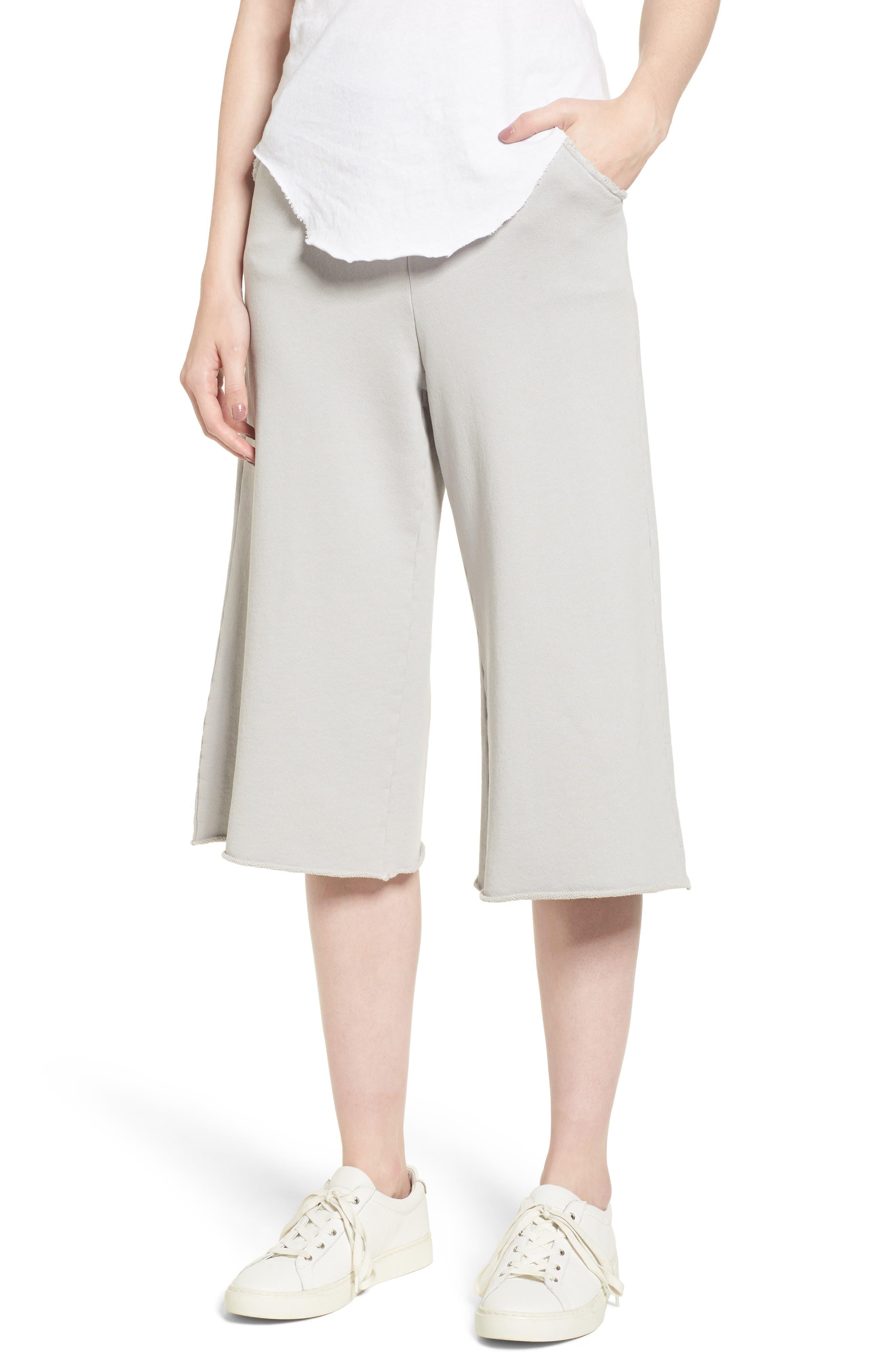 Fleece Knit Gauchos,                         Main,                         color, 038