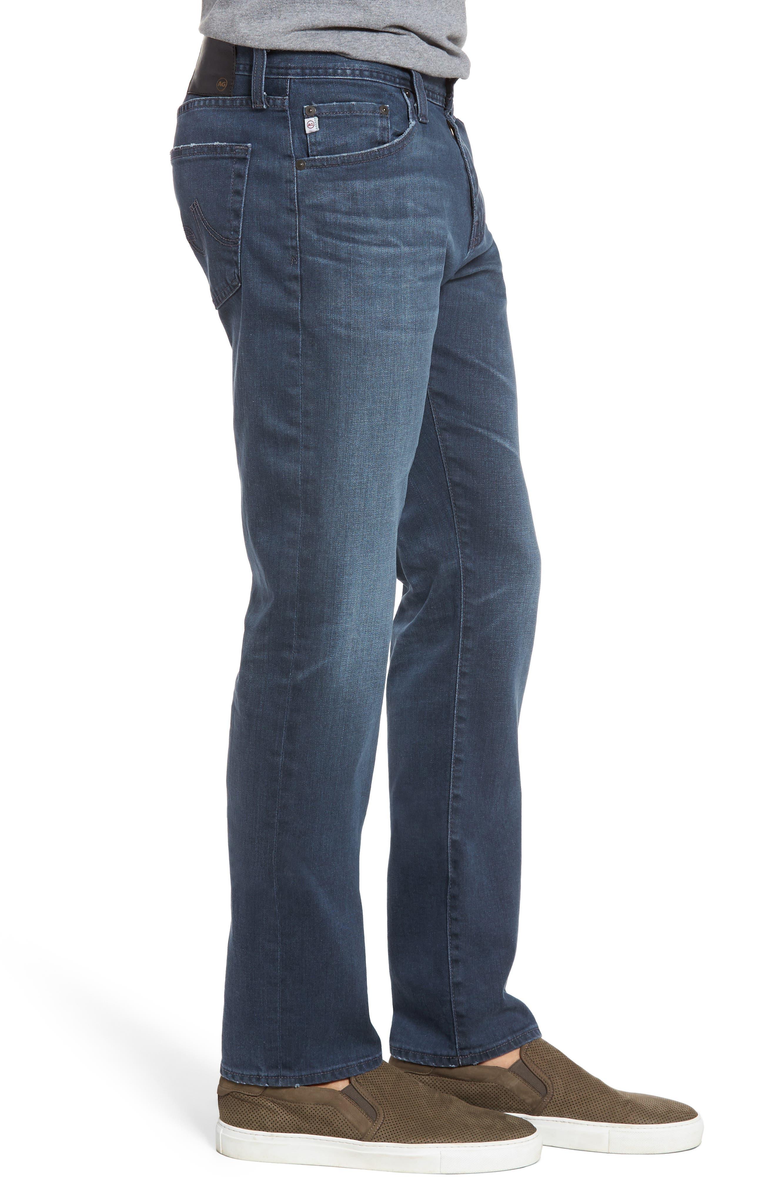 Graduate Slim Straight Leg Jeans,                             Alternate thumbnail 3, color,                             7 YEARS BLUE PERIL