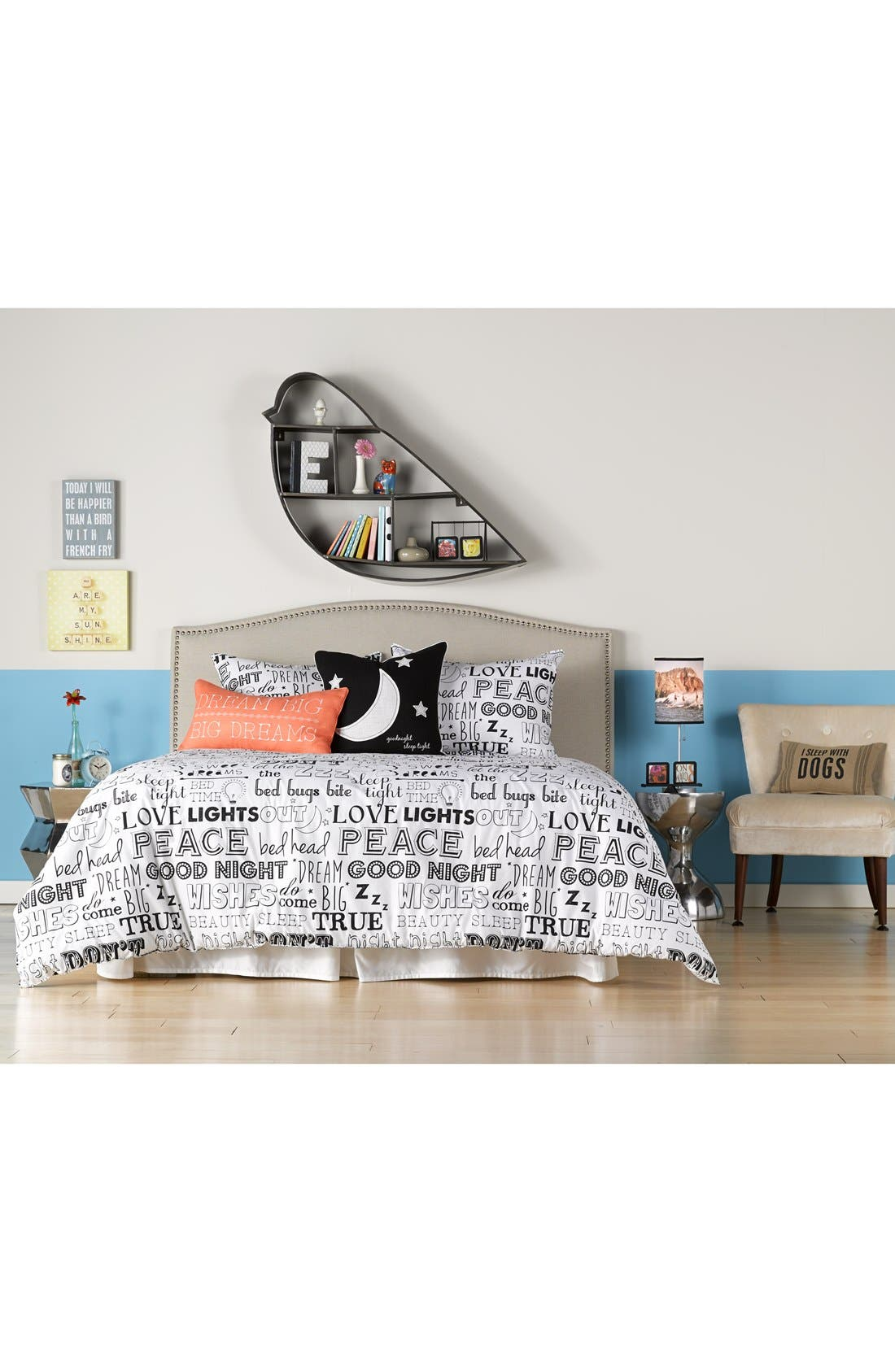 'I Sleep With Dogs' Pillow,                             Alternate thumbnail 2, color,                             250