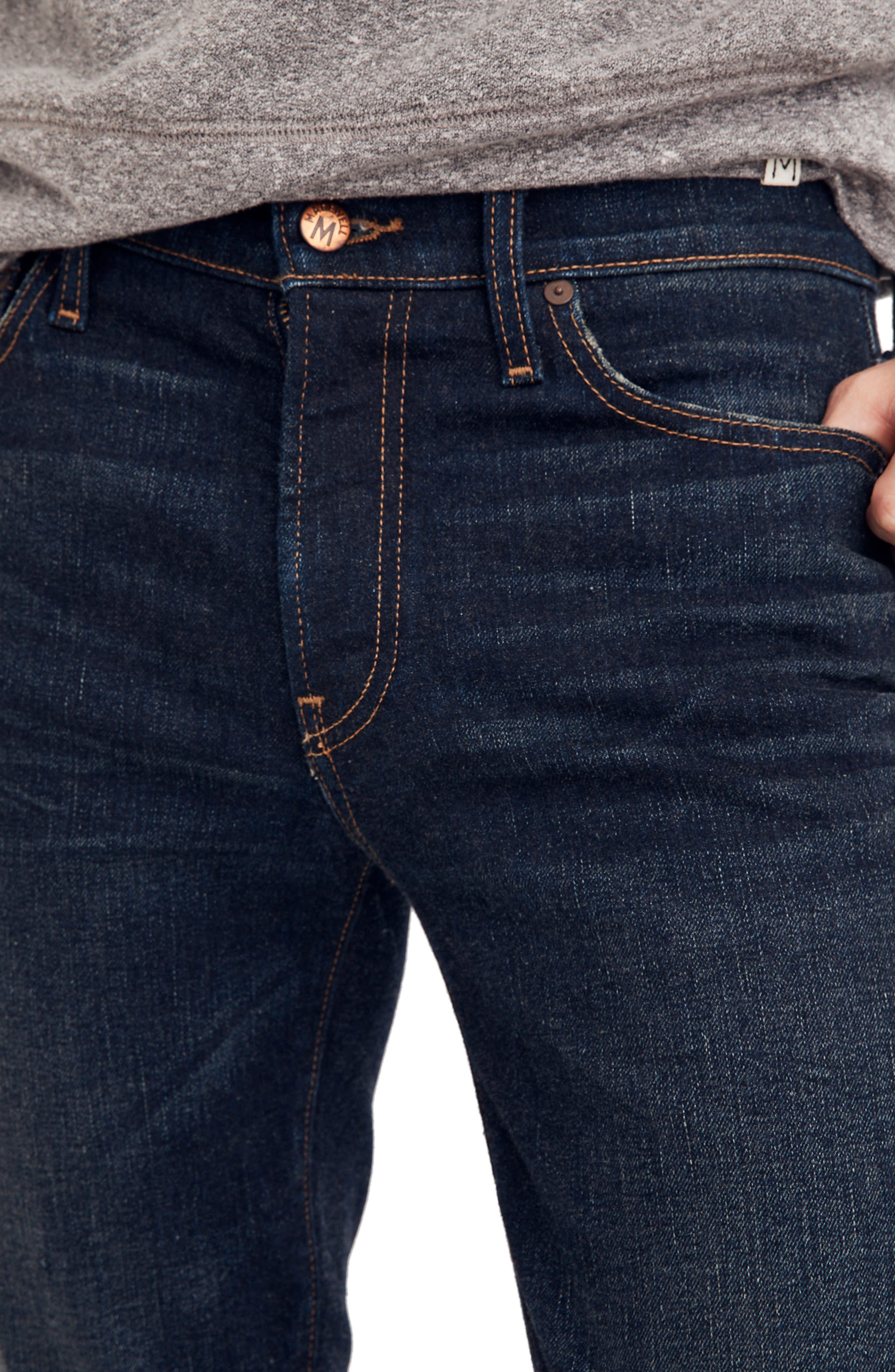 Skinny Fit Jeans,                             Alternate thumbnail 4, color,                             HENEY