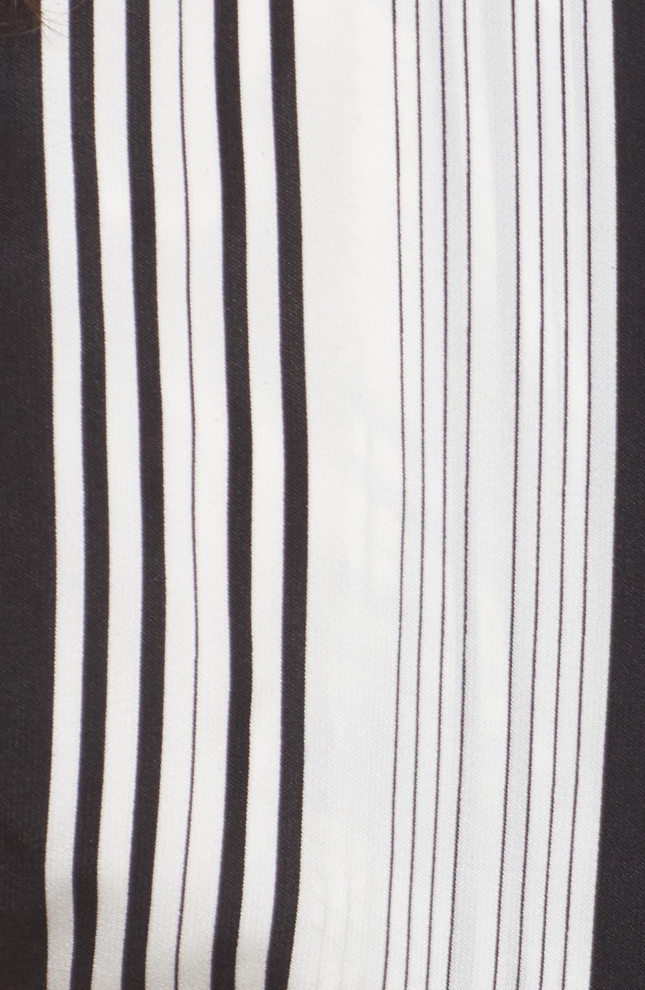 One-Shoulder Tie Waist Shirt,                             Alternate thumbnail 5, color,