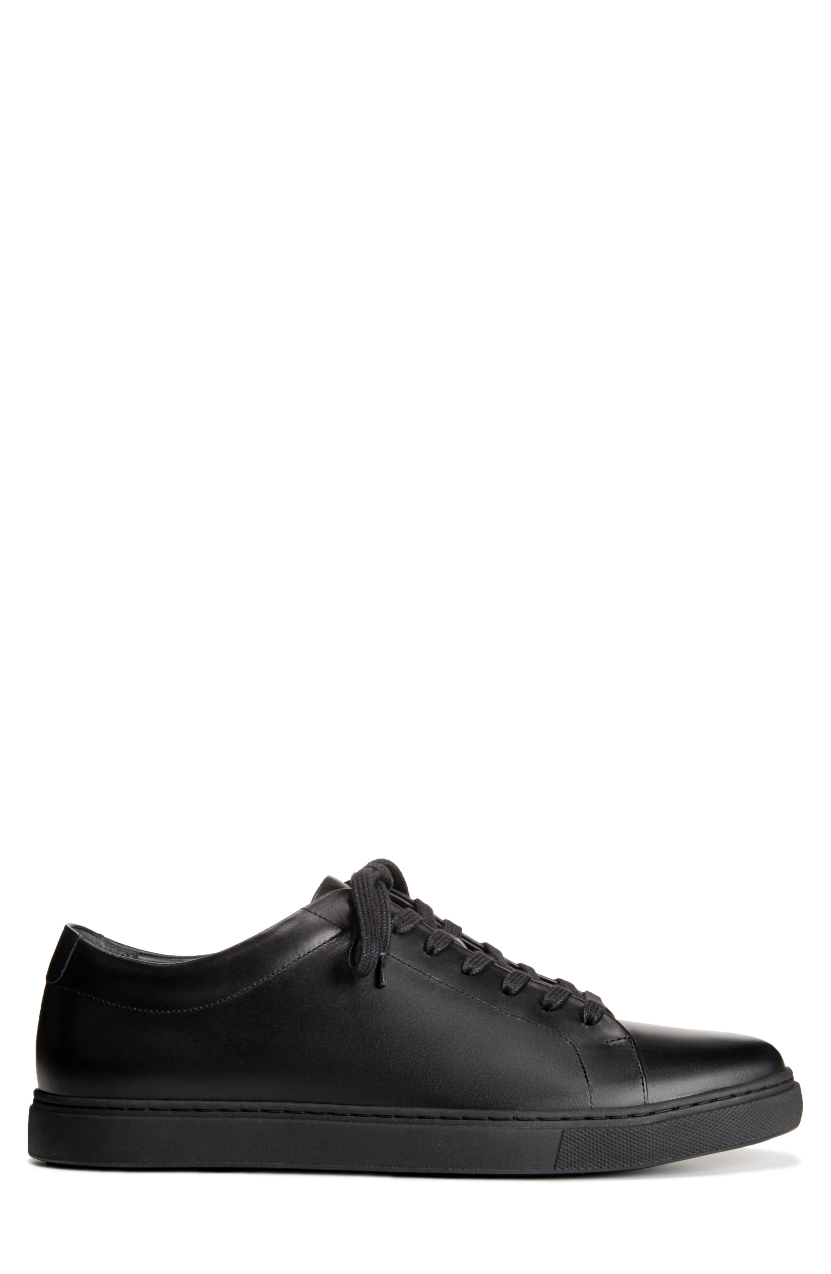 Canal Court Sneaker,                             Alternate thumbnail 3, color,                             BLACK LEATHER