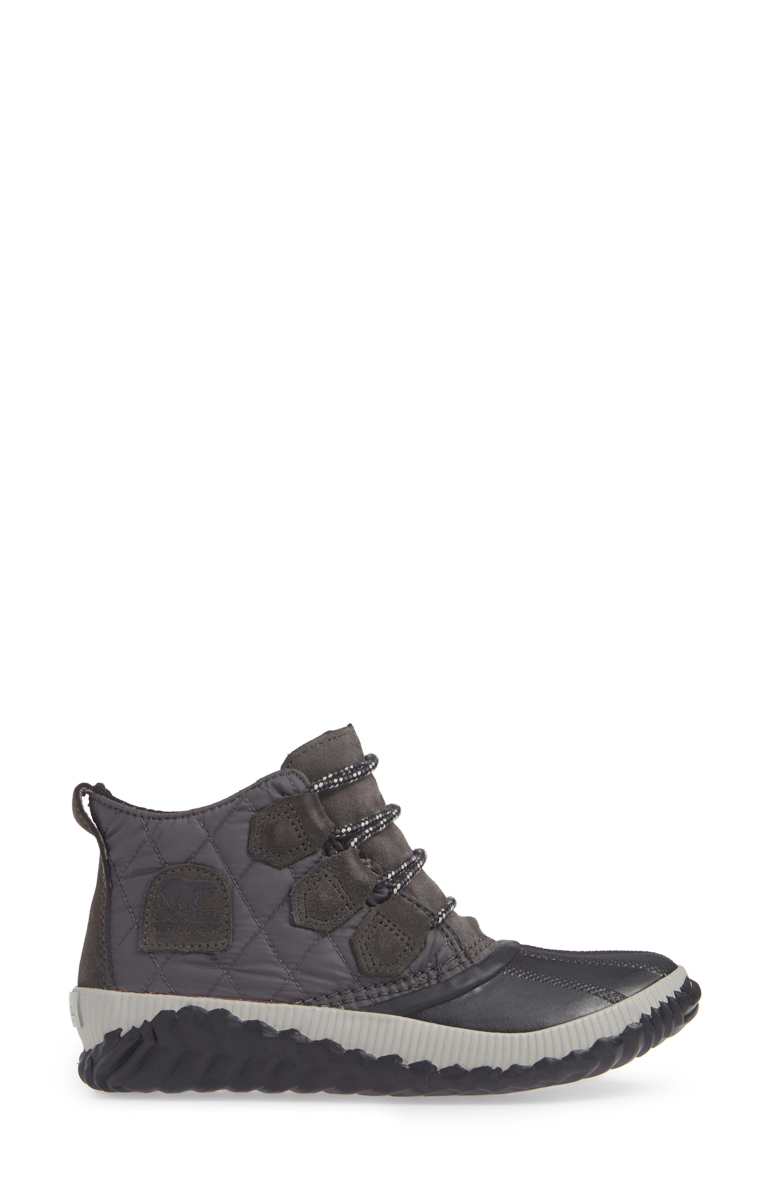 Out N About Plus Camp Waterproof Bootie,                             Alternate thumbnail 3, color,                             SLATE GREY/ BLACK