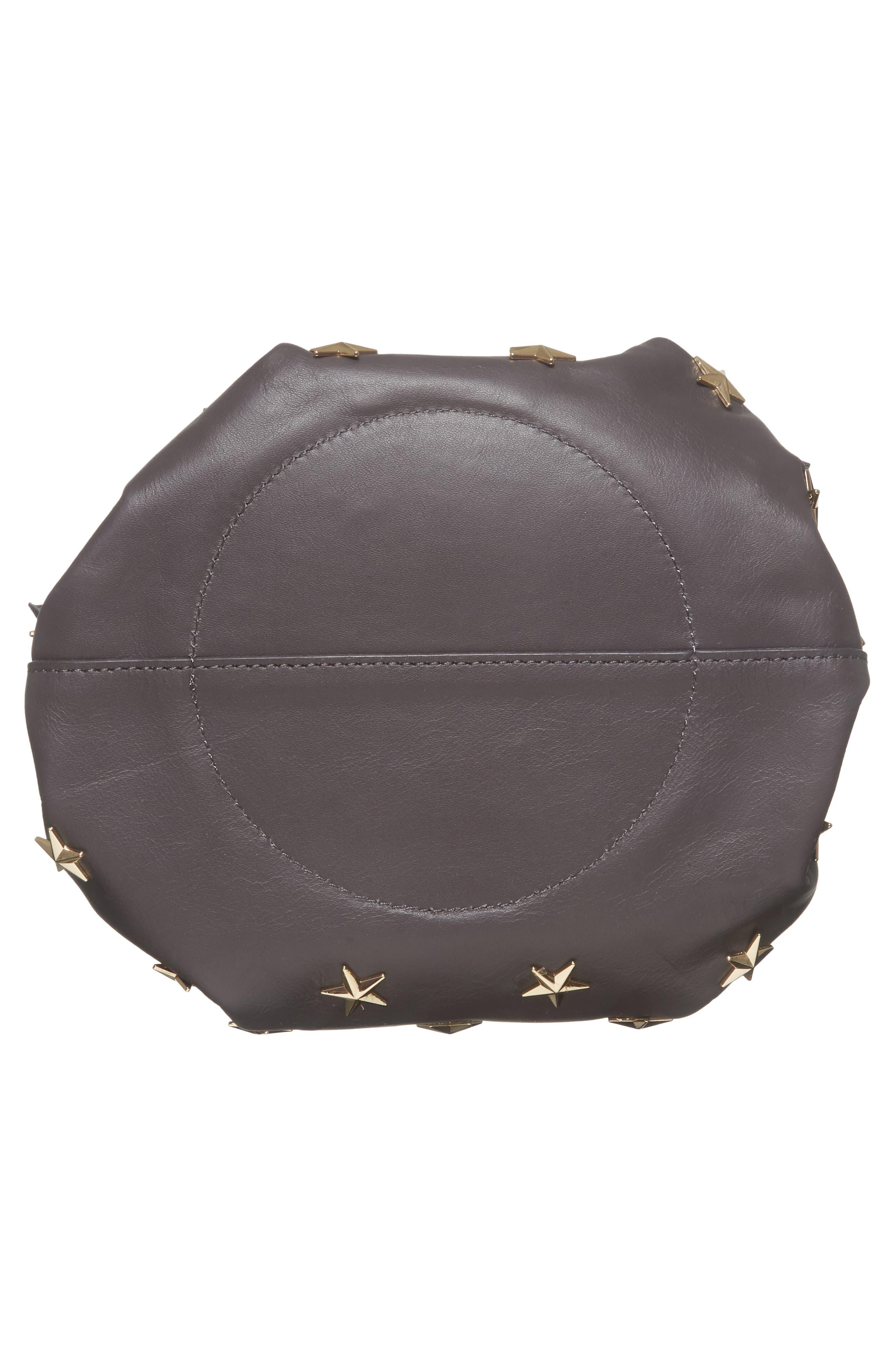 Soirée Star Stud Leather Crossbody Bag,                             Alternate thumbnail 6, color,                             020