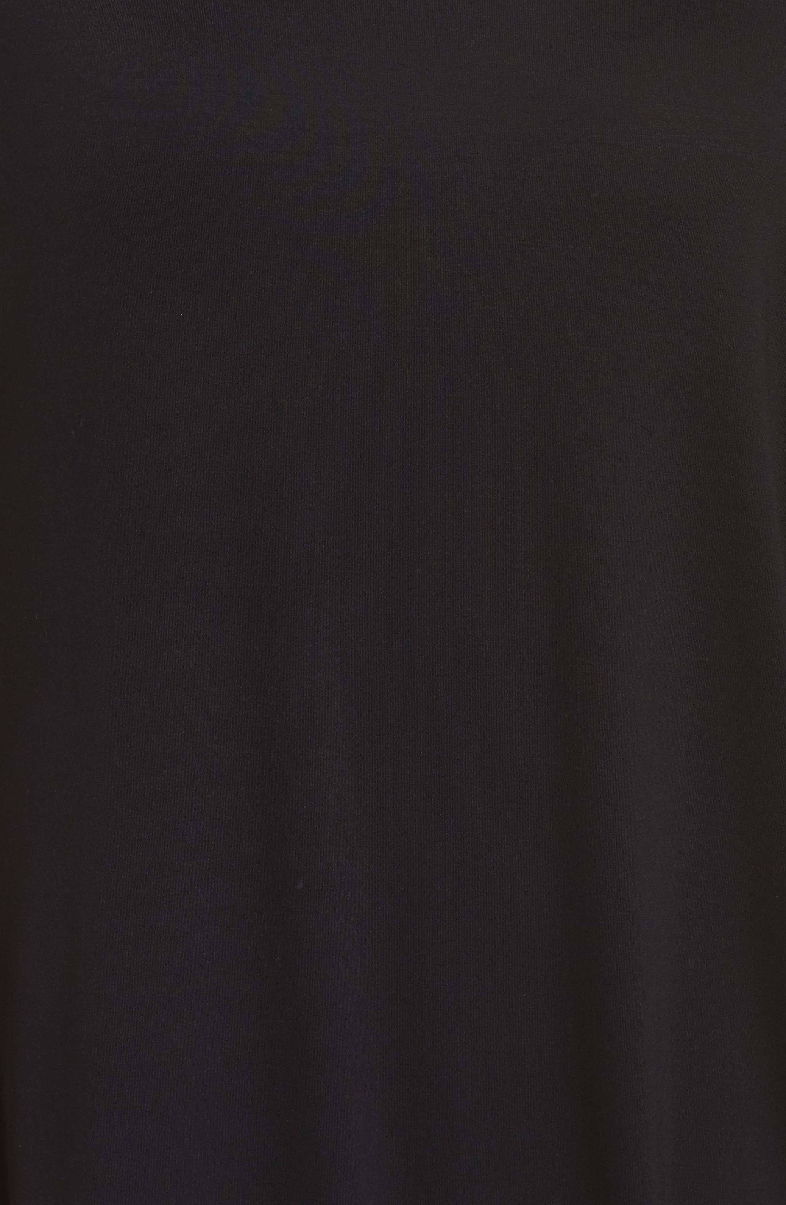 Asymmetrical Drape Jersey Dress,                             Alternate thumbnail 5, color,                             001