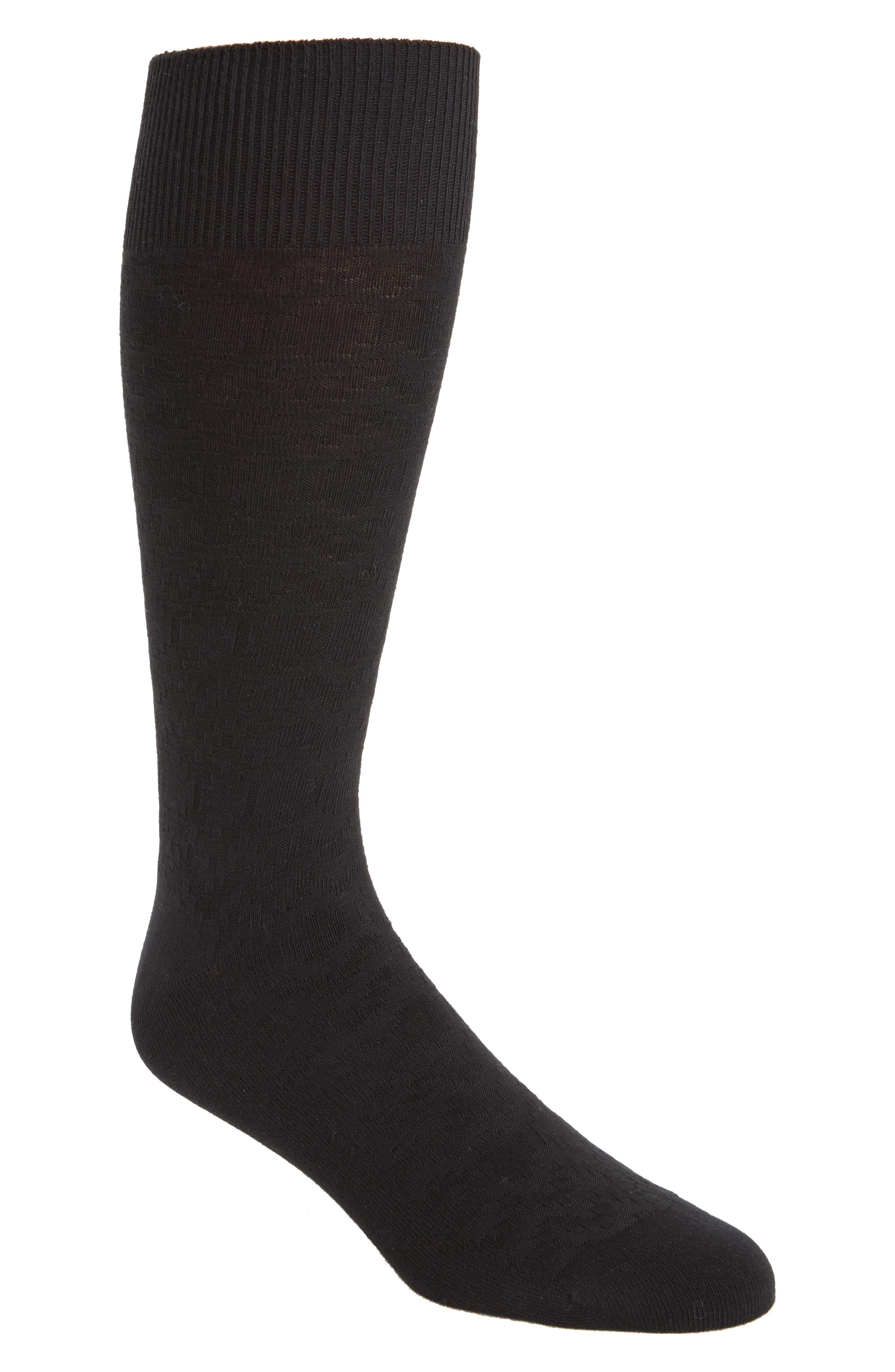 Rug Stripe Texture Socks,                         Main,                         color, 001