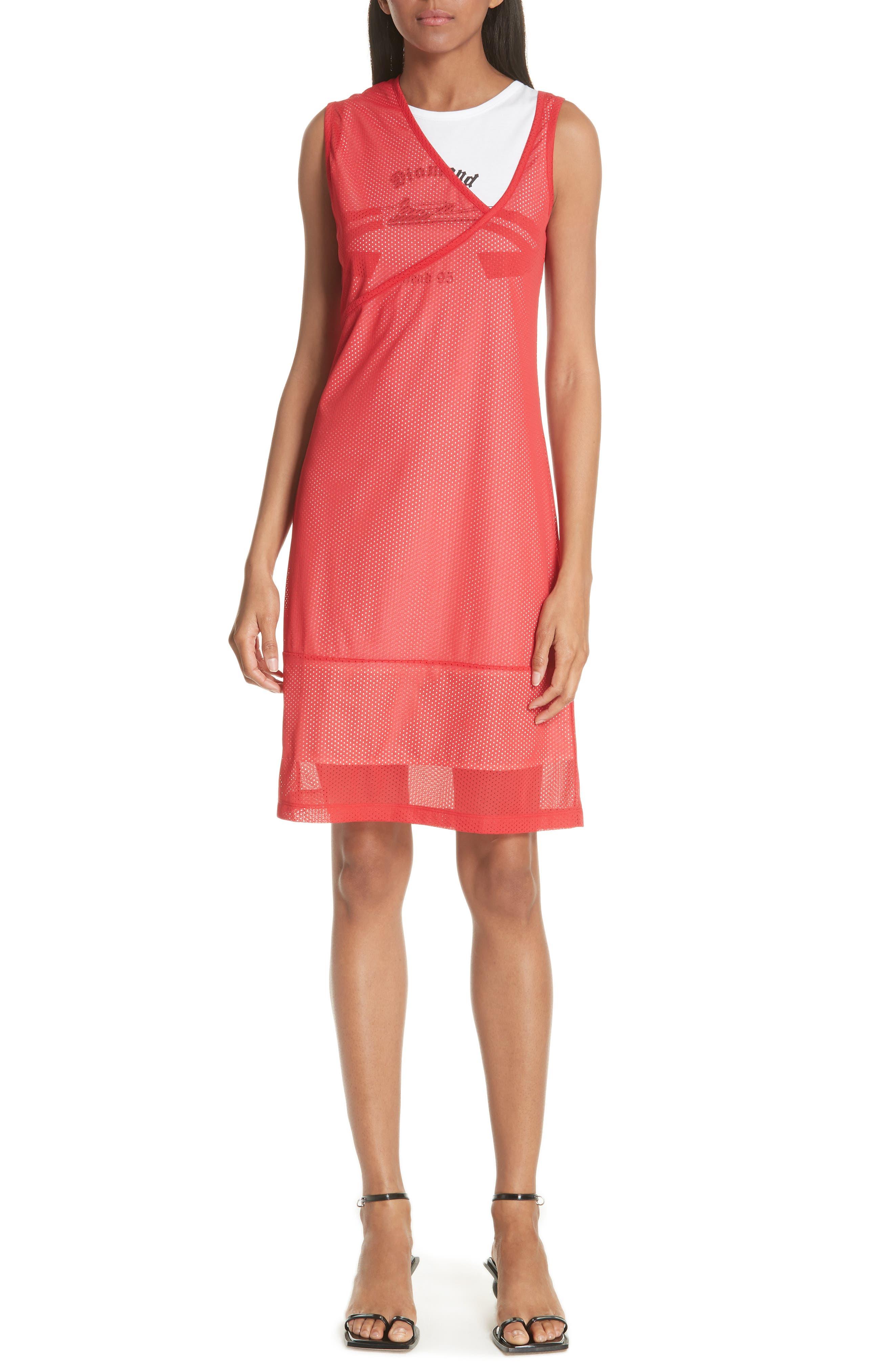 Mesh Layer Dress,                             Main thumbnail 1, color,                             601