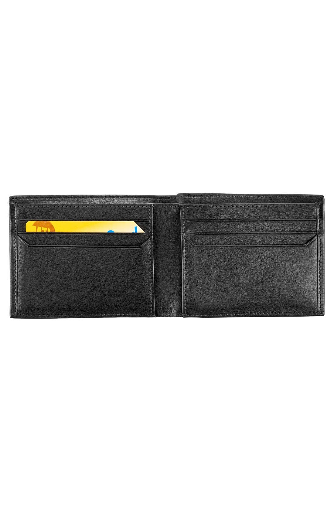 Monaco Double Billfold Leather Wallet,                             Alternate thumbnail 2, color,                             001