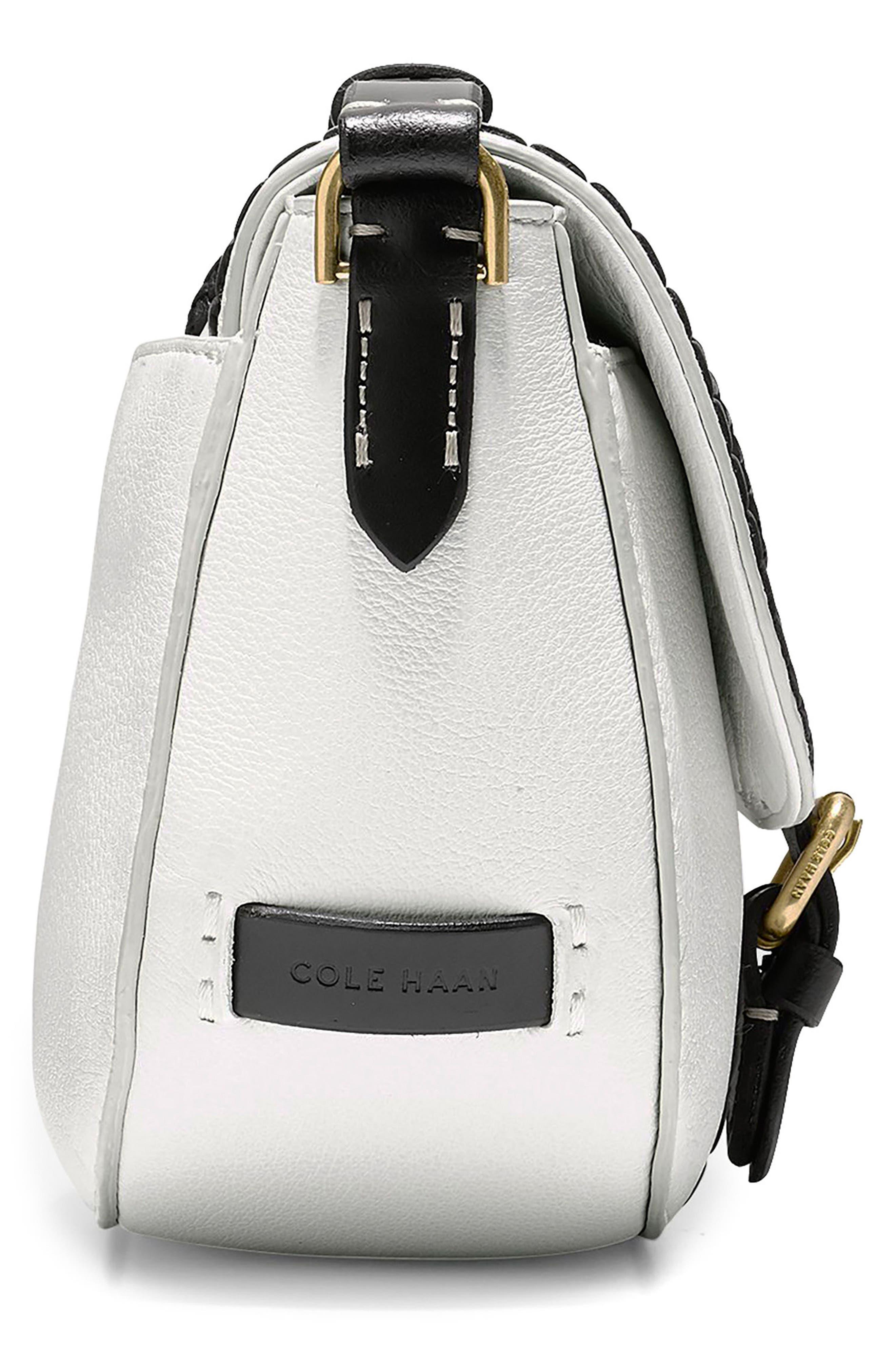 Mini Loralie Whipstitch Leather Saddle Bag,                             Alternate thumbnail 11, color,
