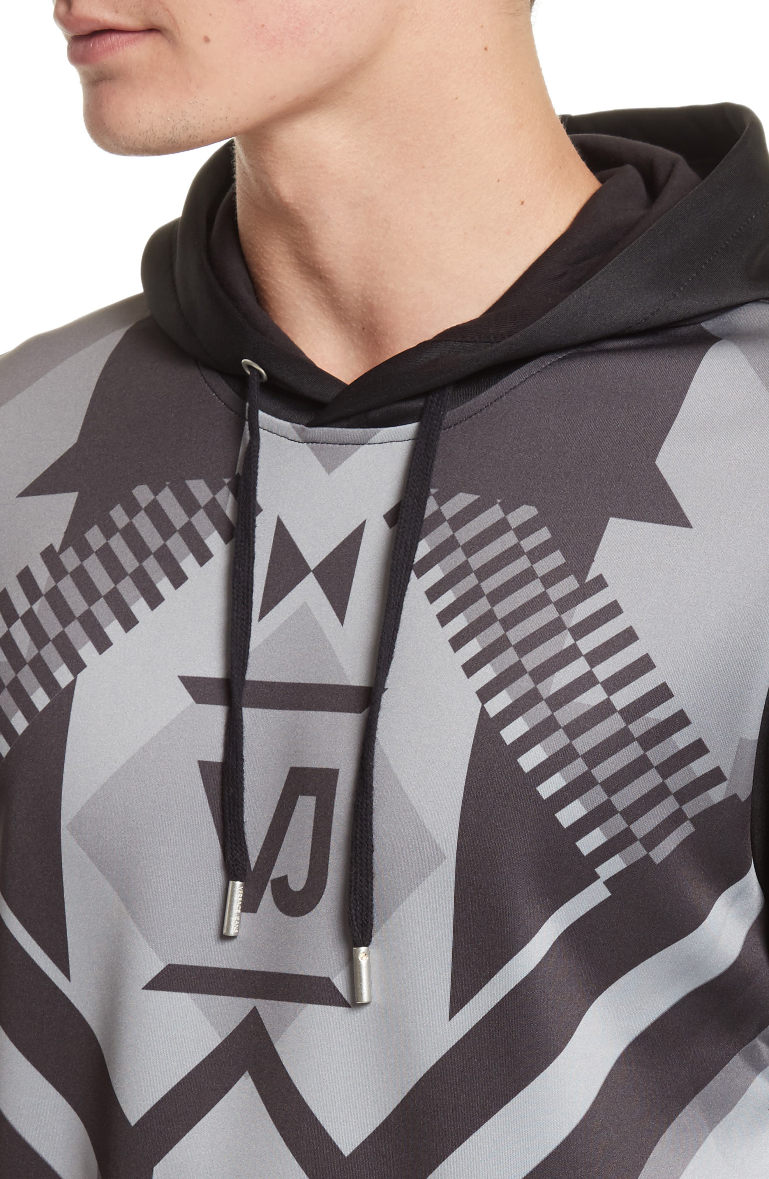 Print Front Hoodie,                             Alternate thumbnail 4, color,                             050