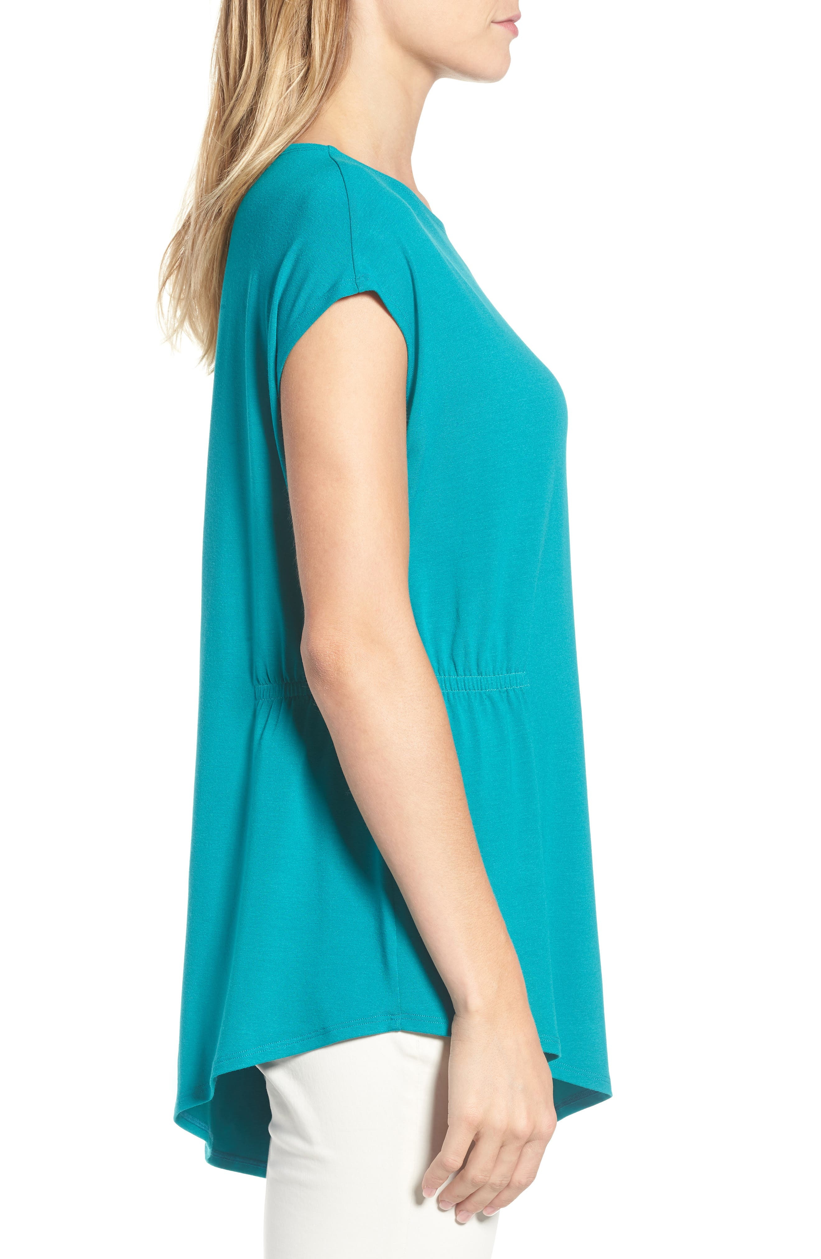 Asymmetrical Stretch Jersey Top,                             Alternate thumbnail 15, color,