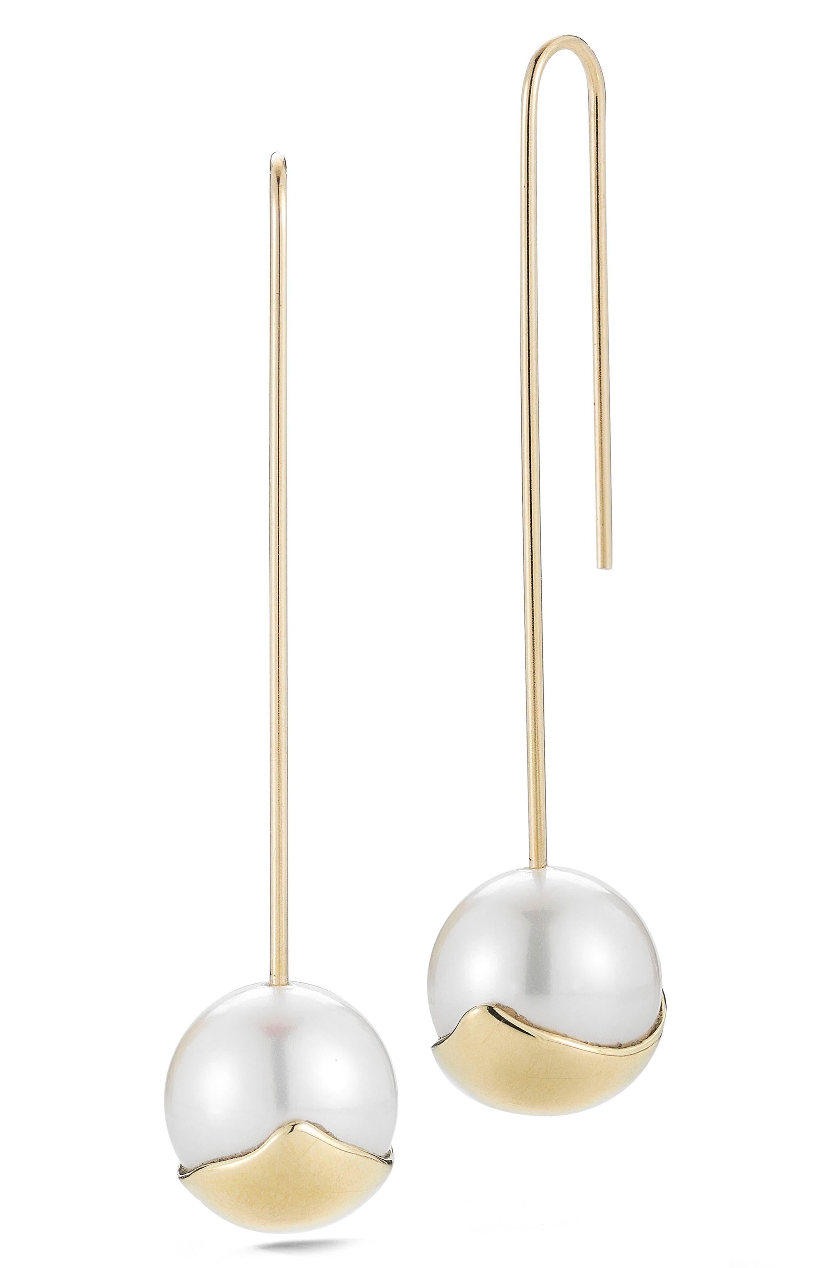 Sea of Beauty Pearl Drop Earrings,                             Main thumbnail 1, color,