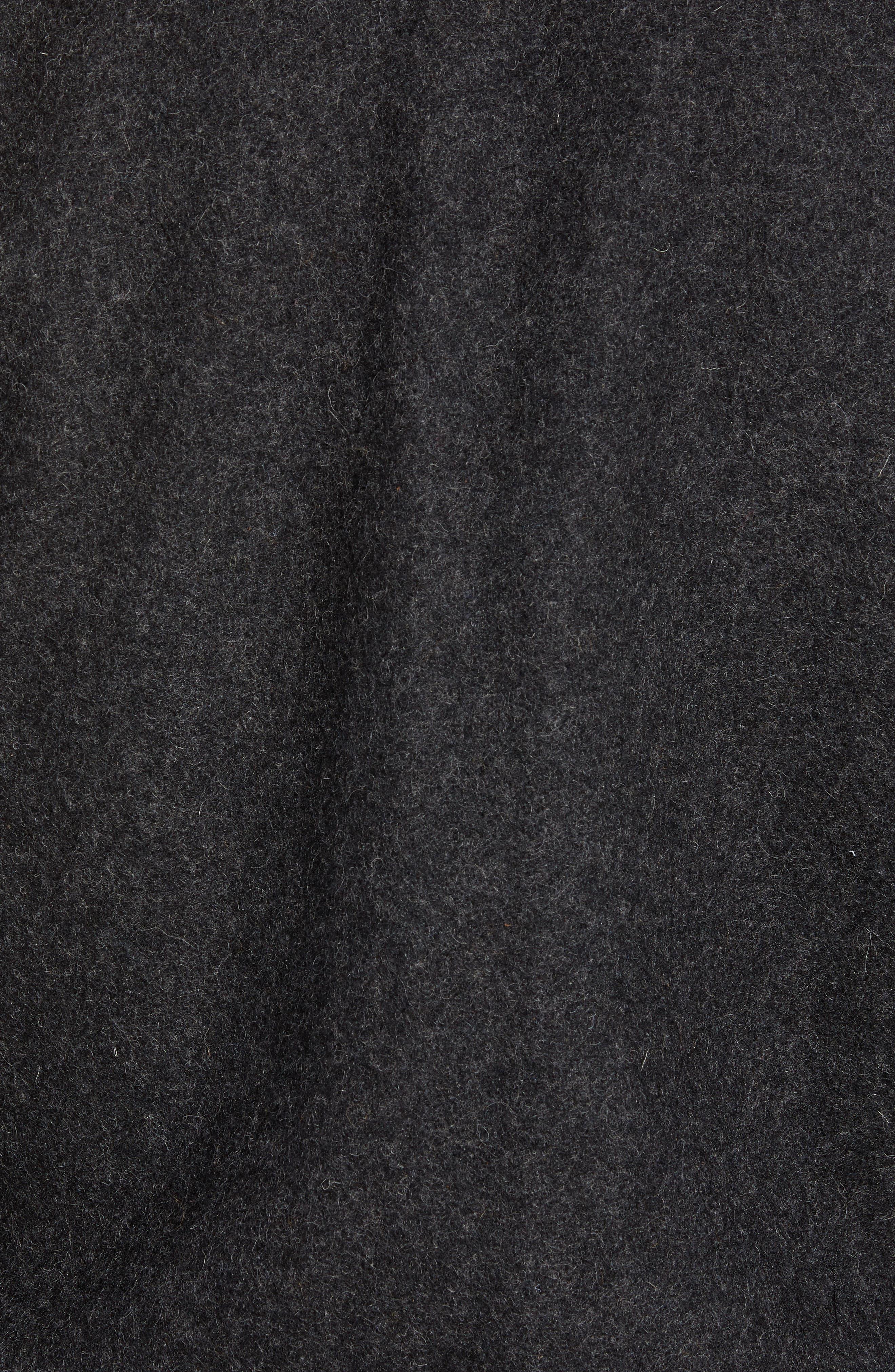 Mixed Media B-15 Flight Jacket with Genuine Shearling Collar,                             Alternate thumbnail 7, color,                             DARK OXFORD