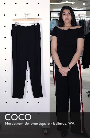 Slouchy Silk Crepe Ankle Pants, sales video thumbnail
