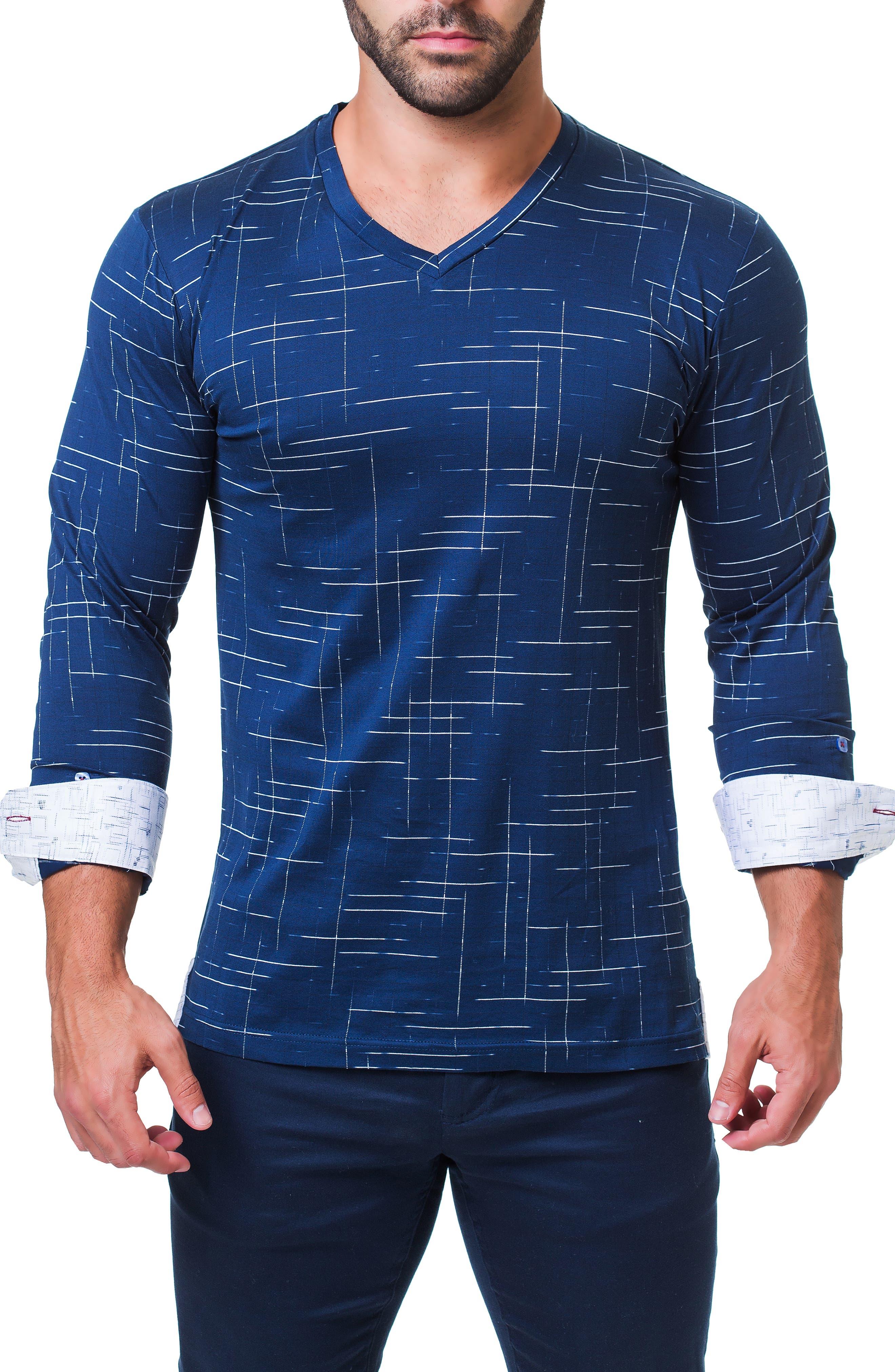 Edison Trim Fit Dash T-Shirt,                             Alternate thumbnail 4, color,                             BLUE
