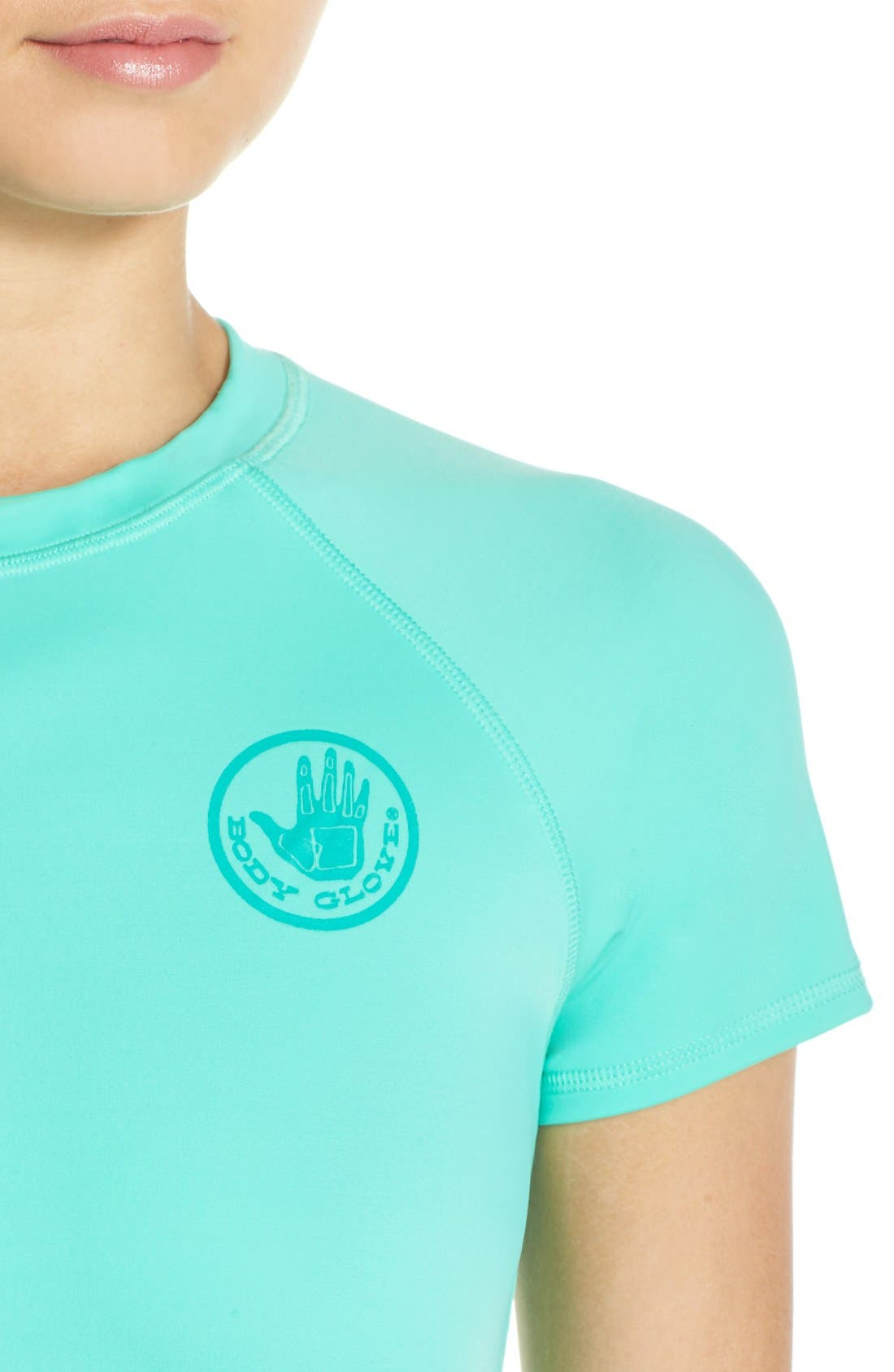 'Smoothies in Motion' Short Sleeve Rashguard,                             Alternate thumbnail 21, color,