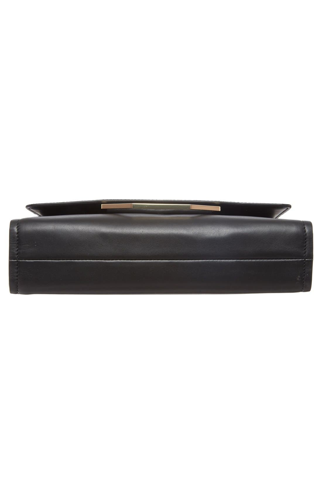 'Towa' Leather Clutch,                             Alternate thumbnail 6, color,                             001