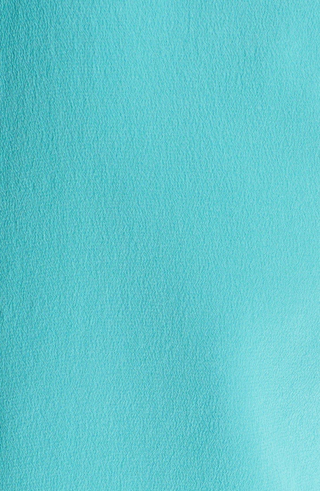 'Slim Signature' Sleeveless Silk Shirt,                             Alternate thumbnail 196, color,