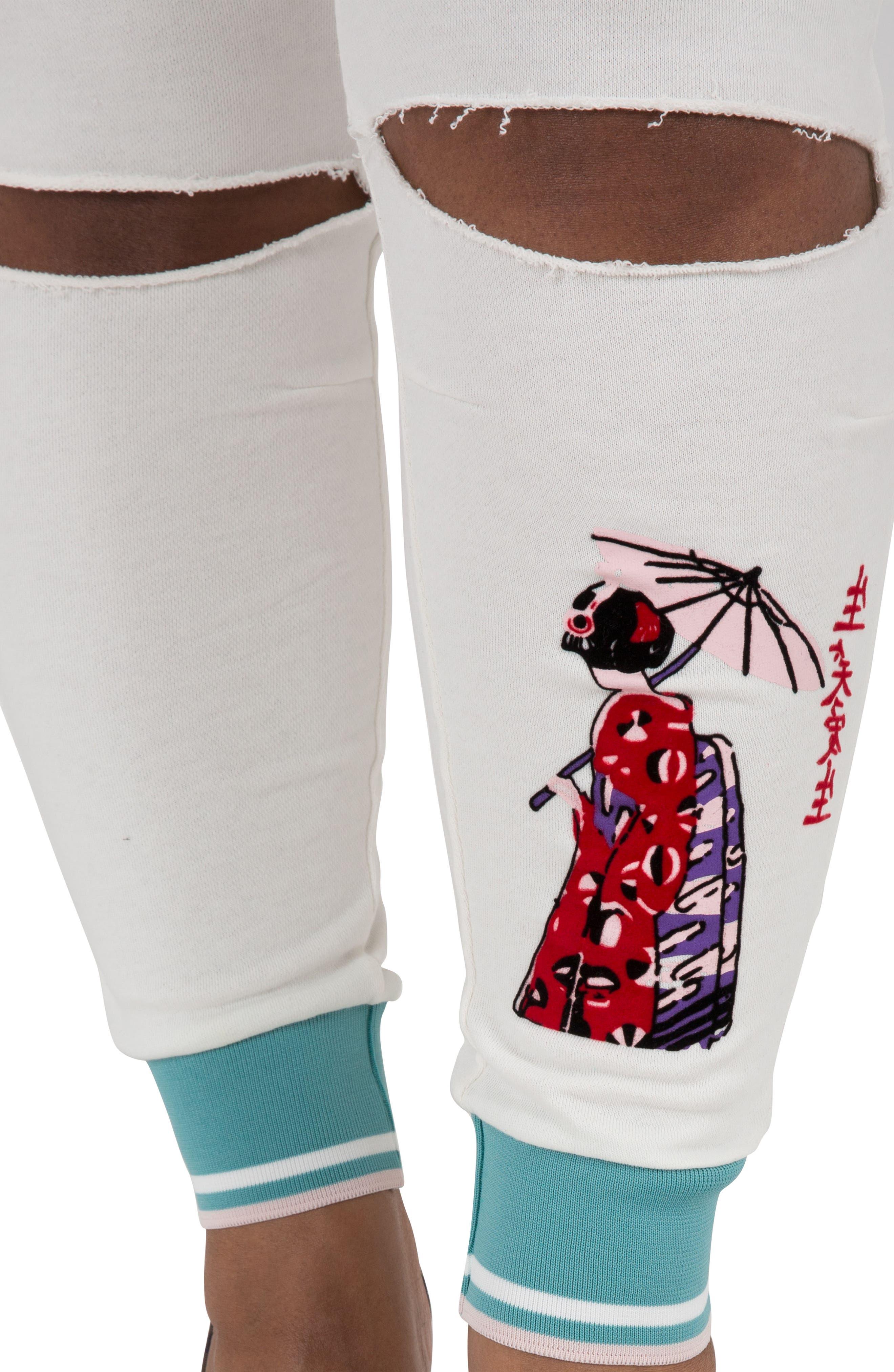 Akira Ankle Jogger Pants,                             Alternate thumbnail 4, color,                             QUARTZ WHITE