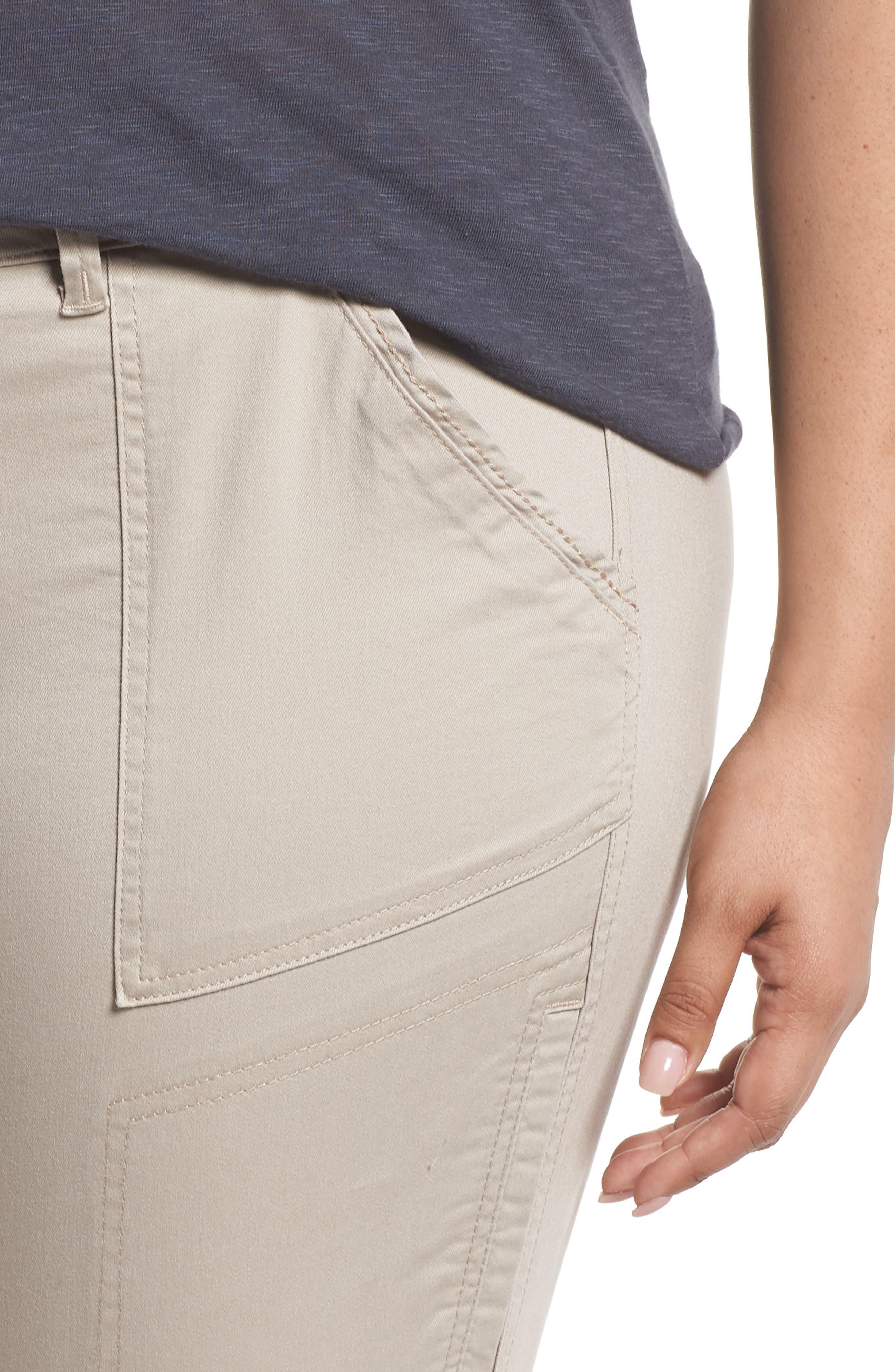 Flex-ellent Stretch Cotton Cargo Pants,                             Alternate thumbnail 4, color,                             FLAX