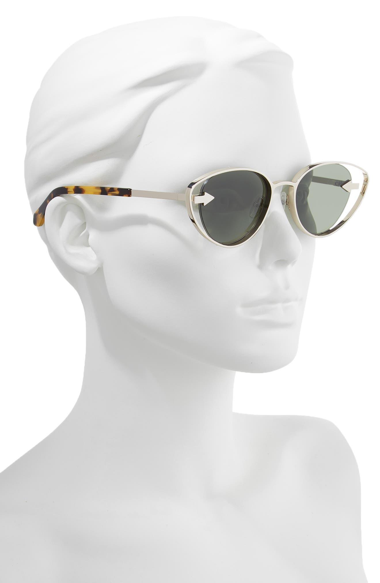 Kissy Kissy 51mm Cat Eye Sunglasses,                             Alternate thumbnail 2, color,                             GOLD/ TORTOISE