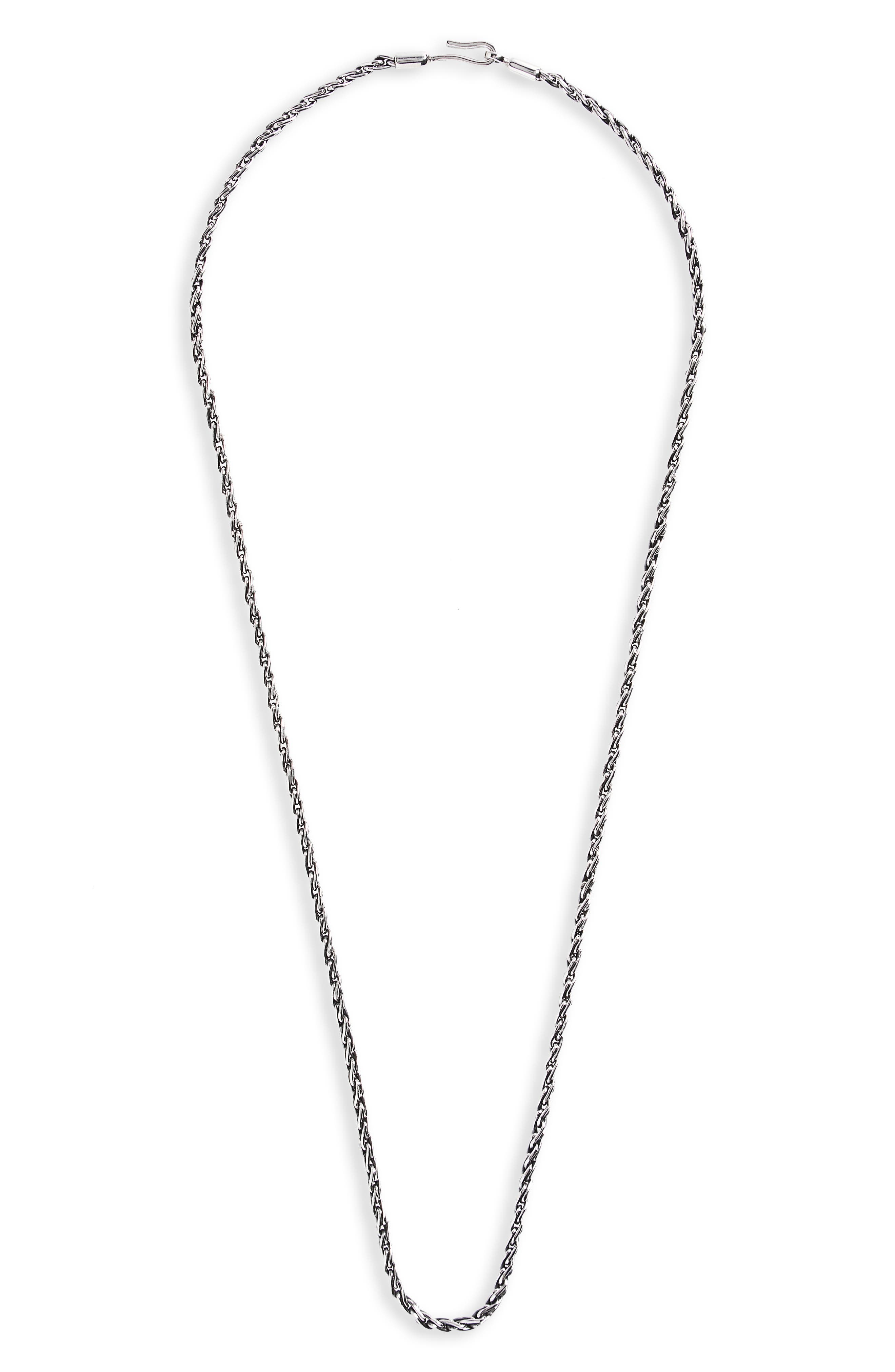 Sterling Silver Chain Necklace,                             Main thumbnail 1, color,                             040