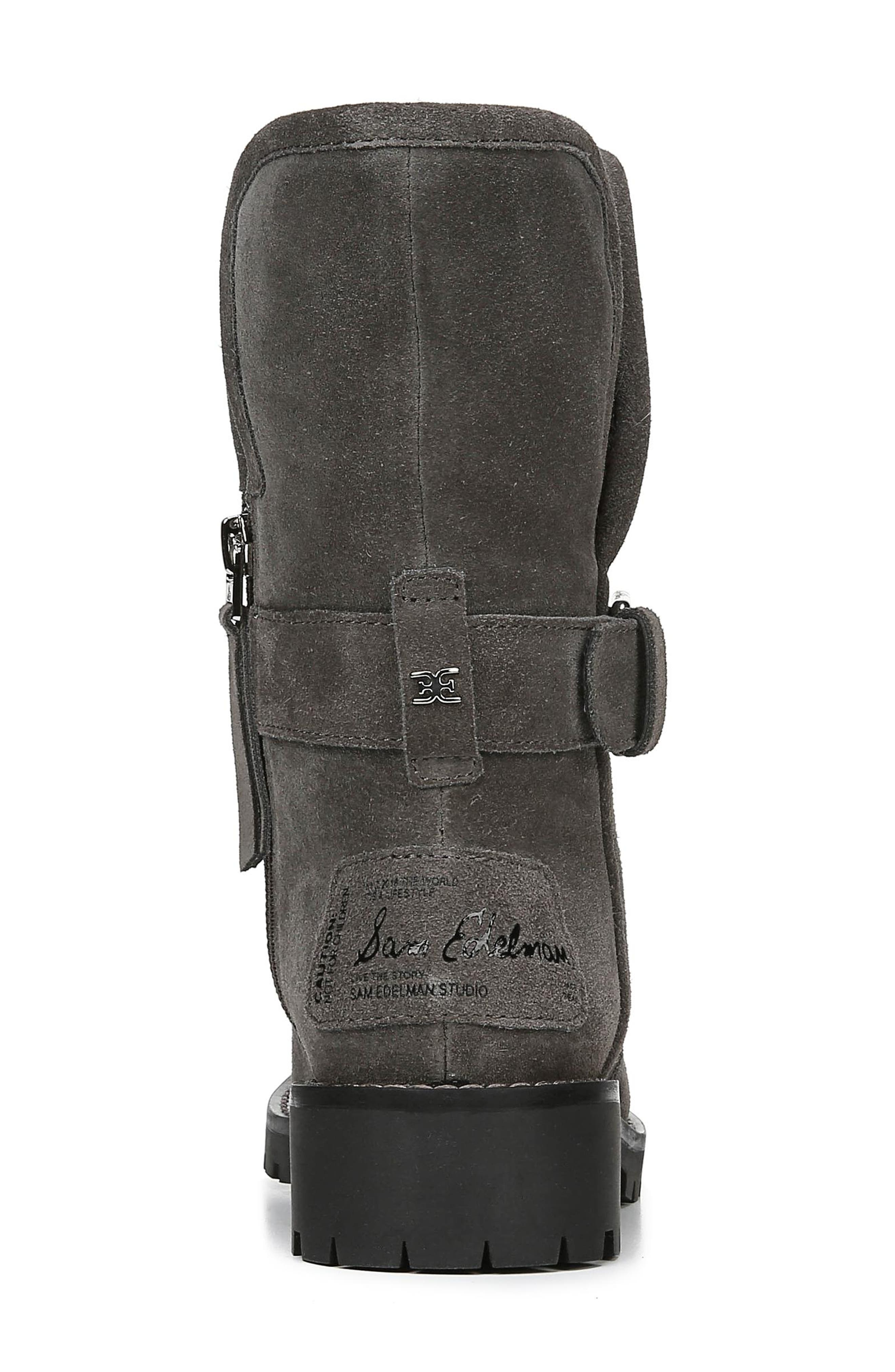 Jeanie Boot,                             Alternate thumbnail 7, color,                             STEEL GREY SUEDE