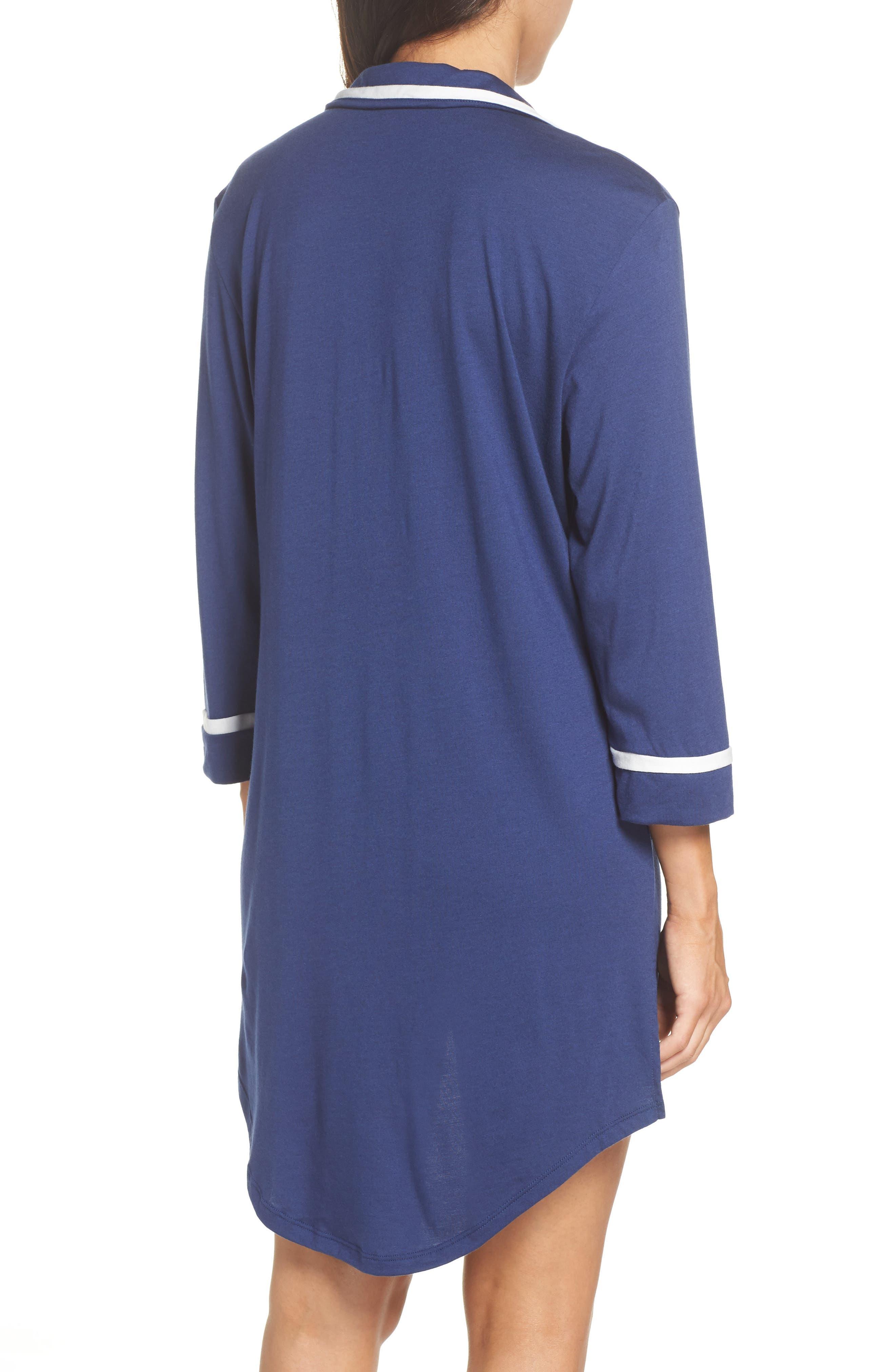 Amore Sleep Shirt,                             Alternate thumbnail 2, color,                             MARINE BLUE MOON/ IVORY