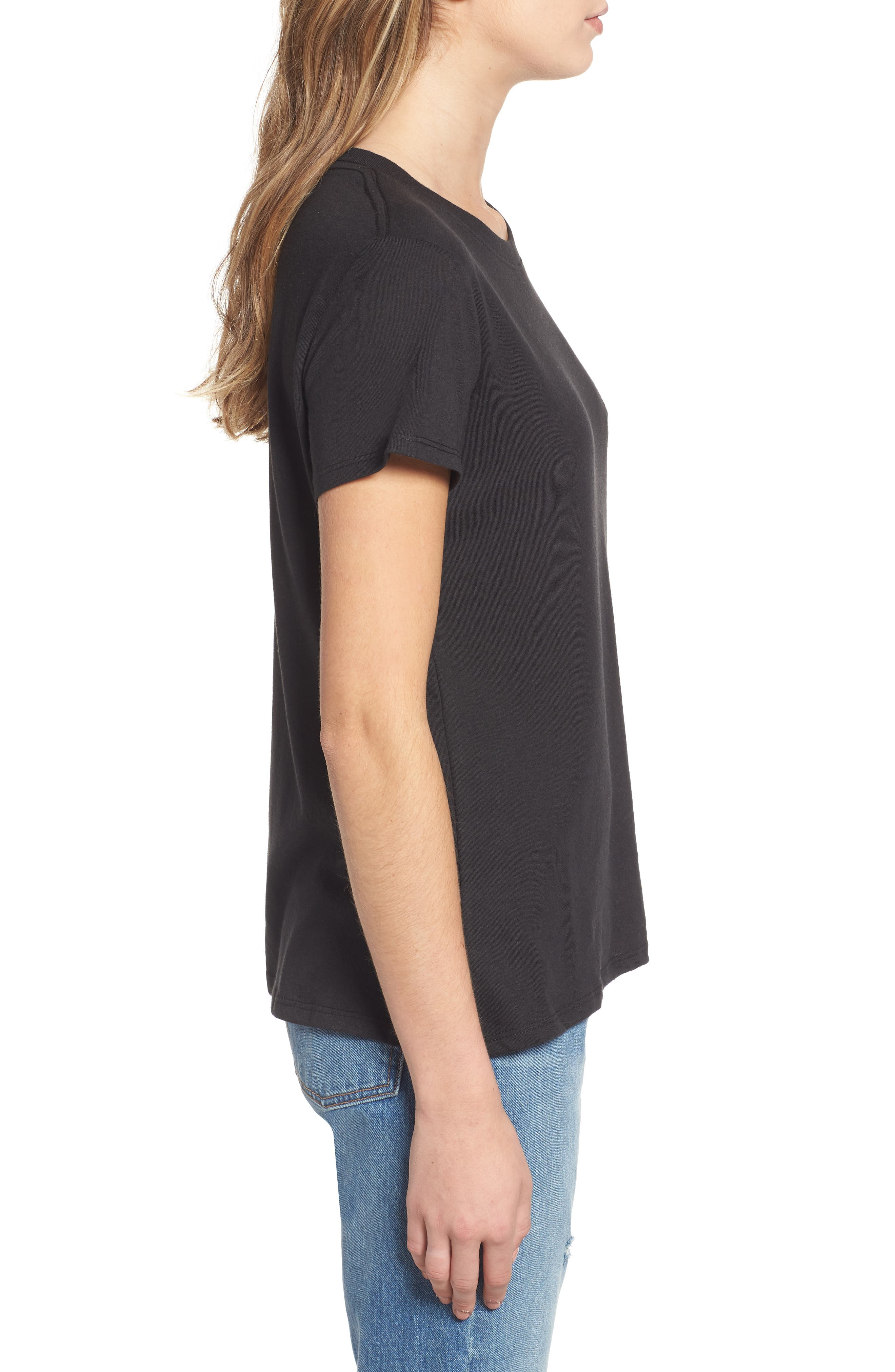 SUB_URBAN RIOT,                             Holy Guacamole Embroidered Slouched Tee,                             Alternate thumbnail 3, color,                             BLACK