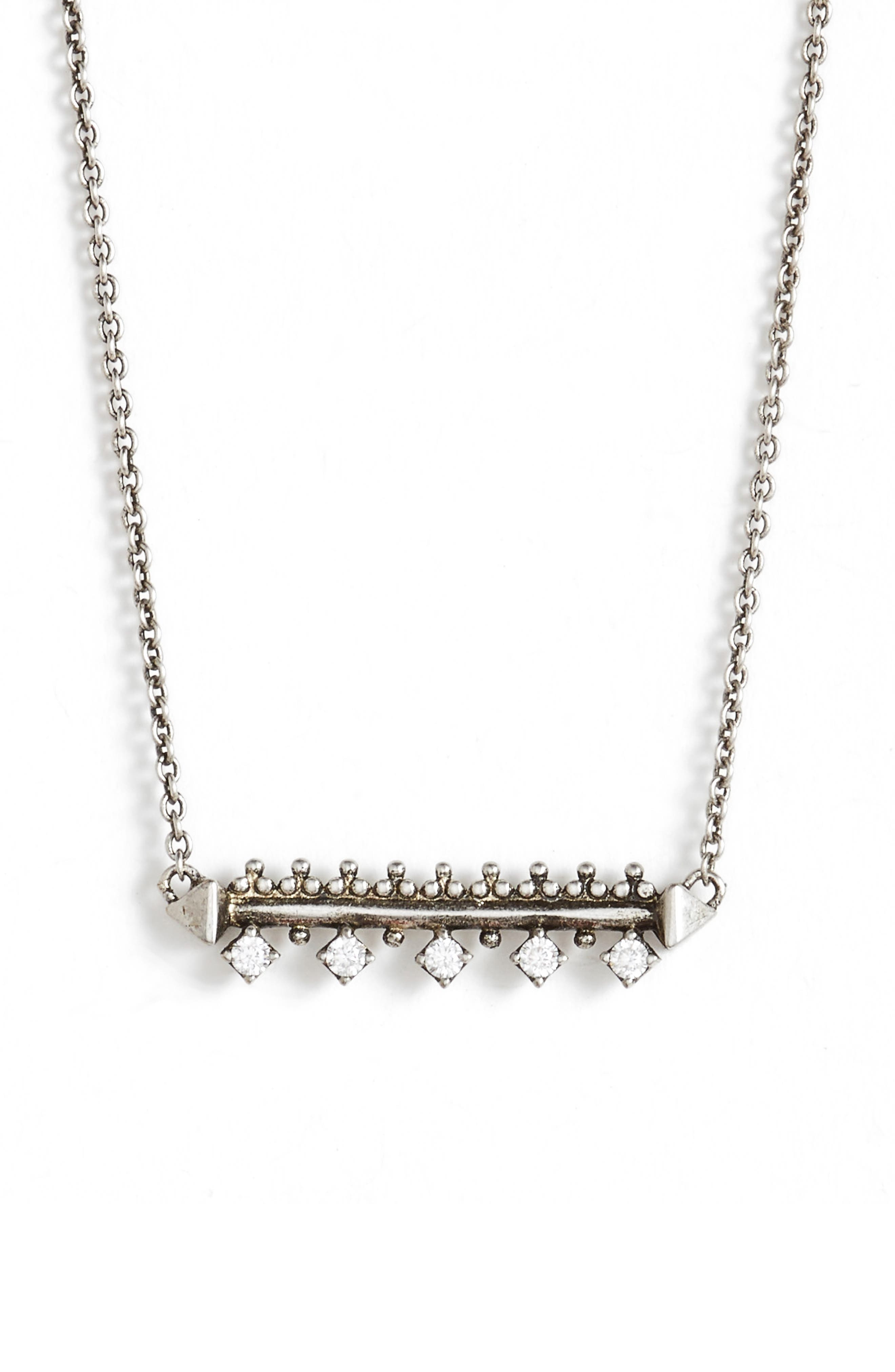 Anissa Bar Pendant Necklace,                             Main thumbnail 1, color,                             042