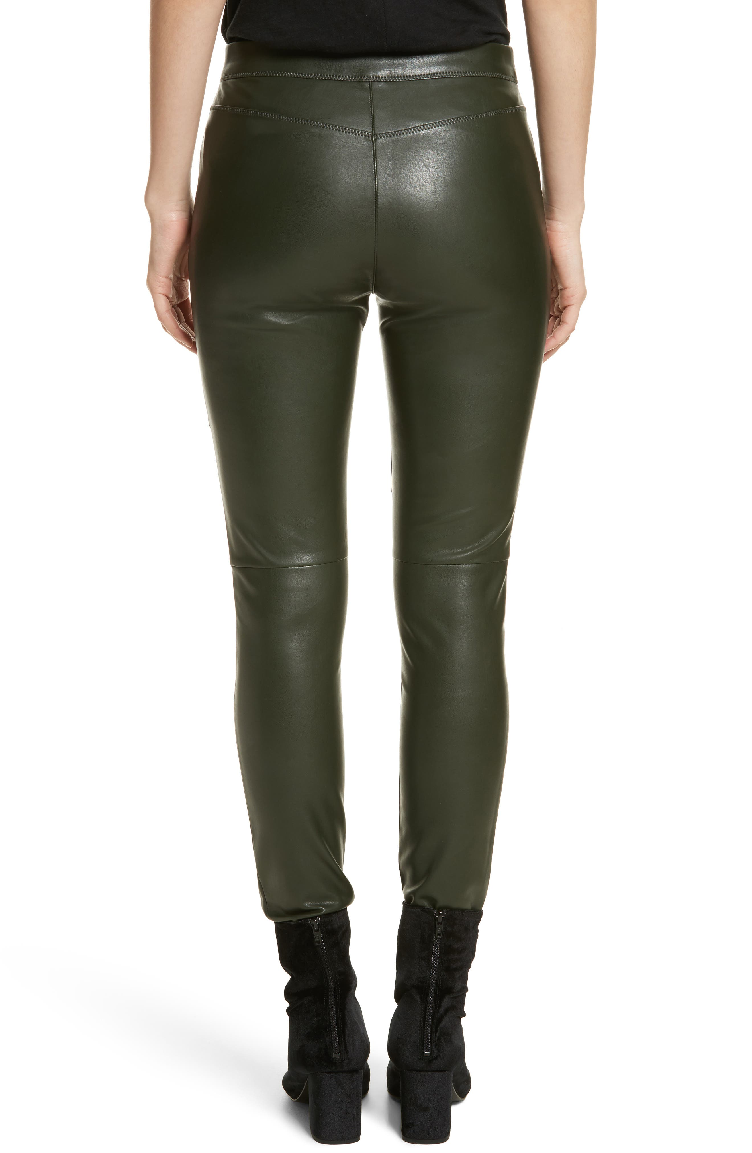 Faux Leather Leggings,                             Alternate thumbnail 2, color,                             303